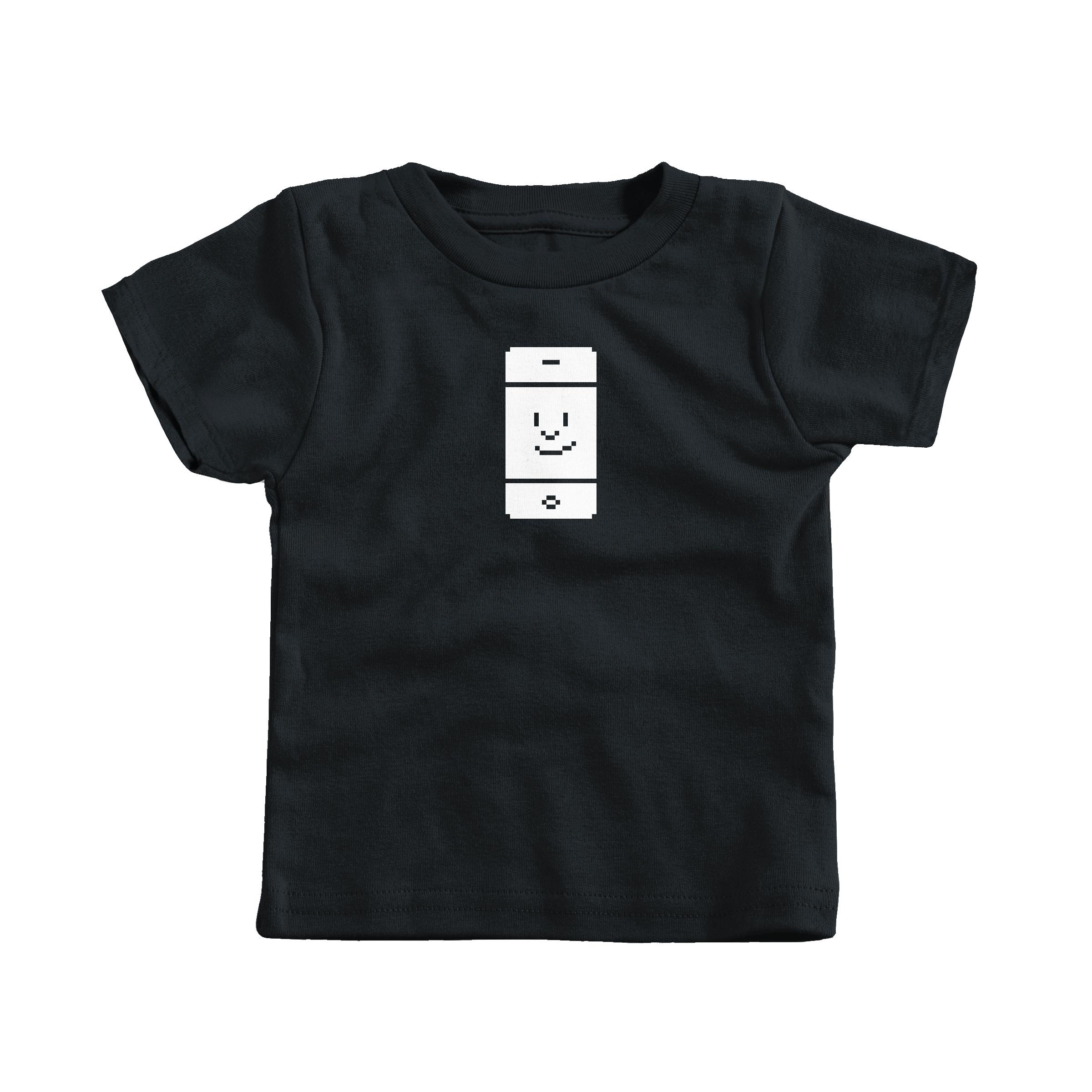 Happy Phone Black (T-Shirt)