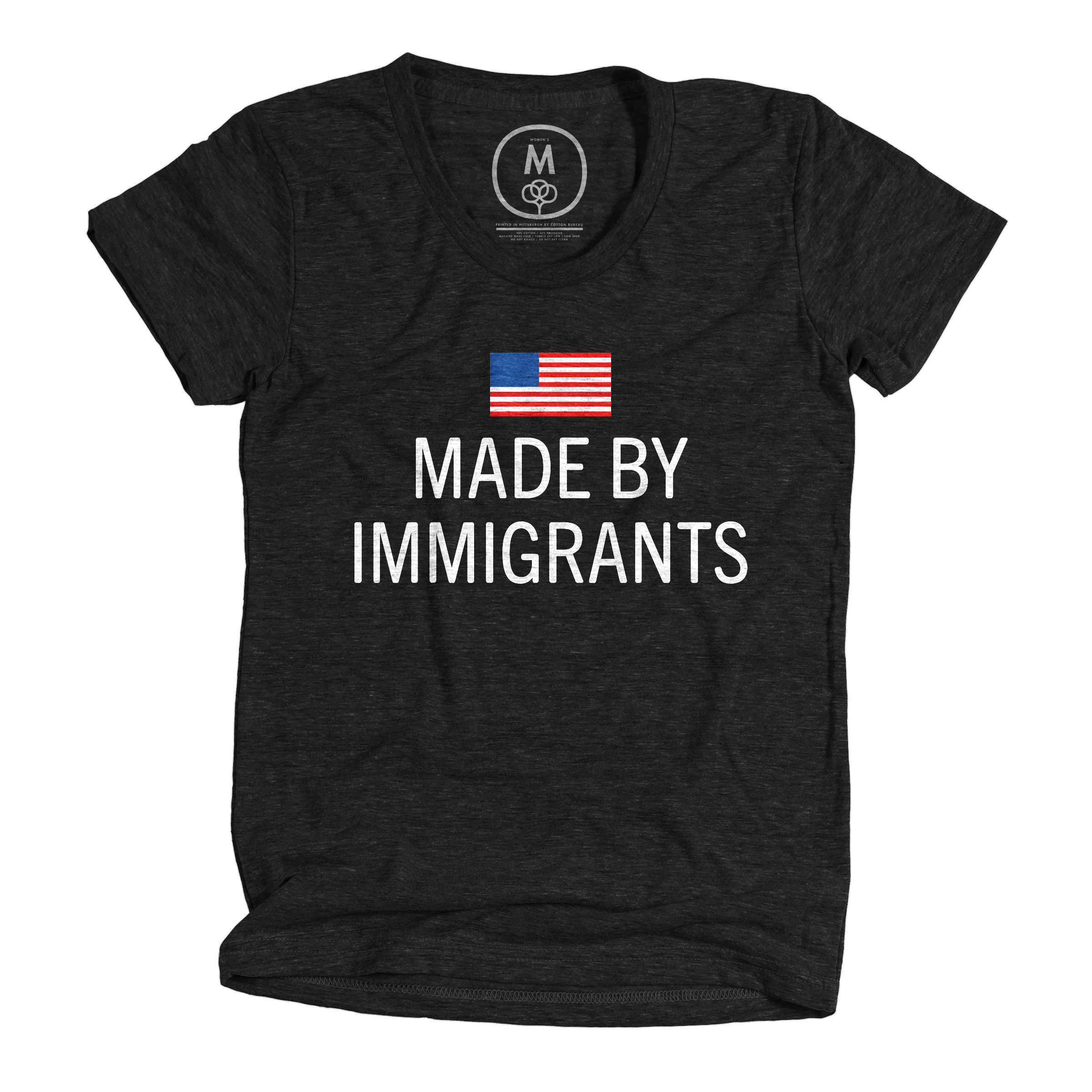 Made by immigrants. Vintage Black (Women's)
