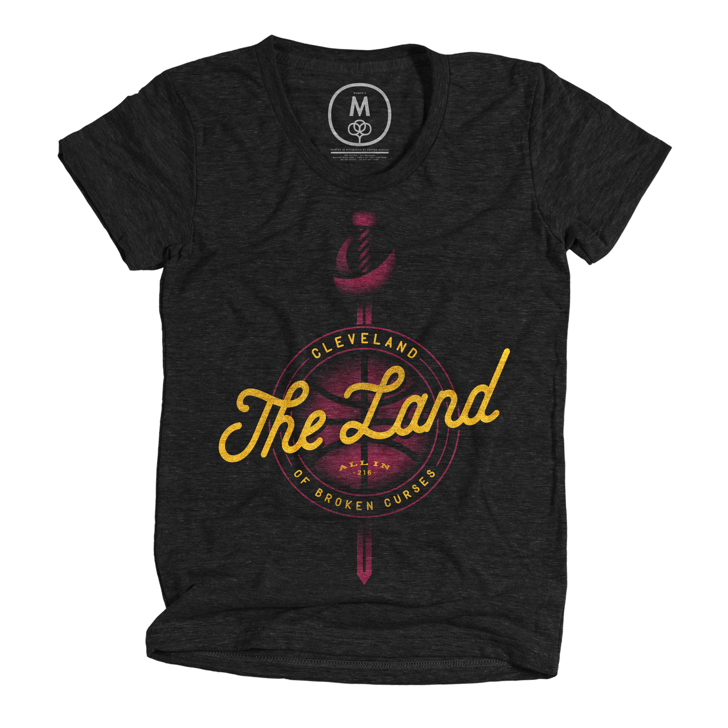 Cleveland: The Land of Broken Curses Vintage Black (Women's)