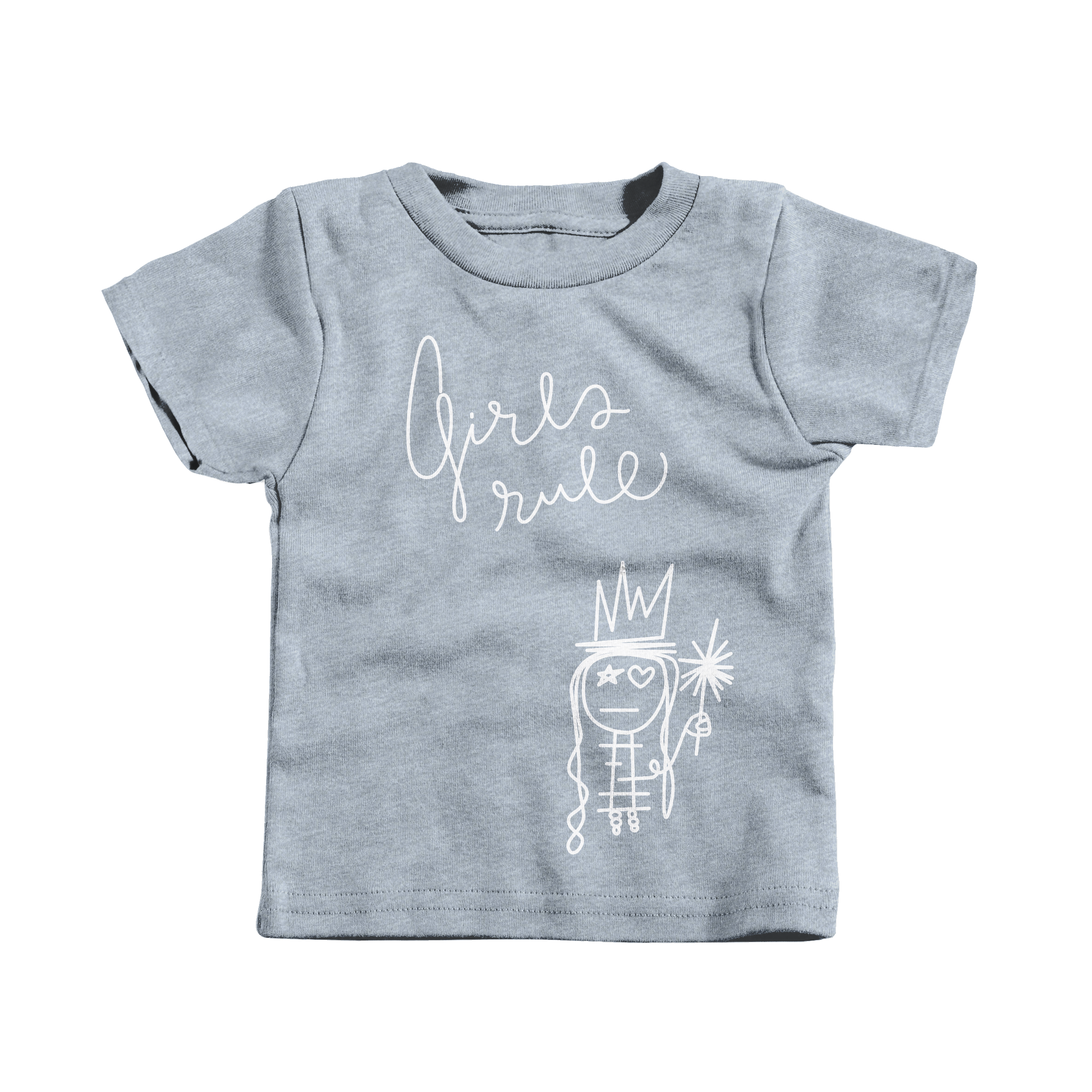 Girls Rule Heather Grey (T-Shirt)