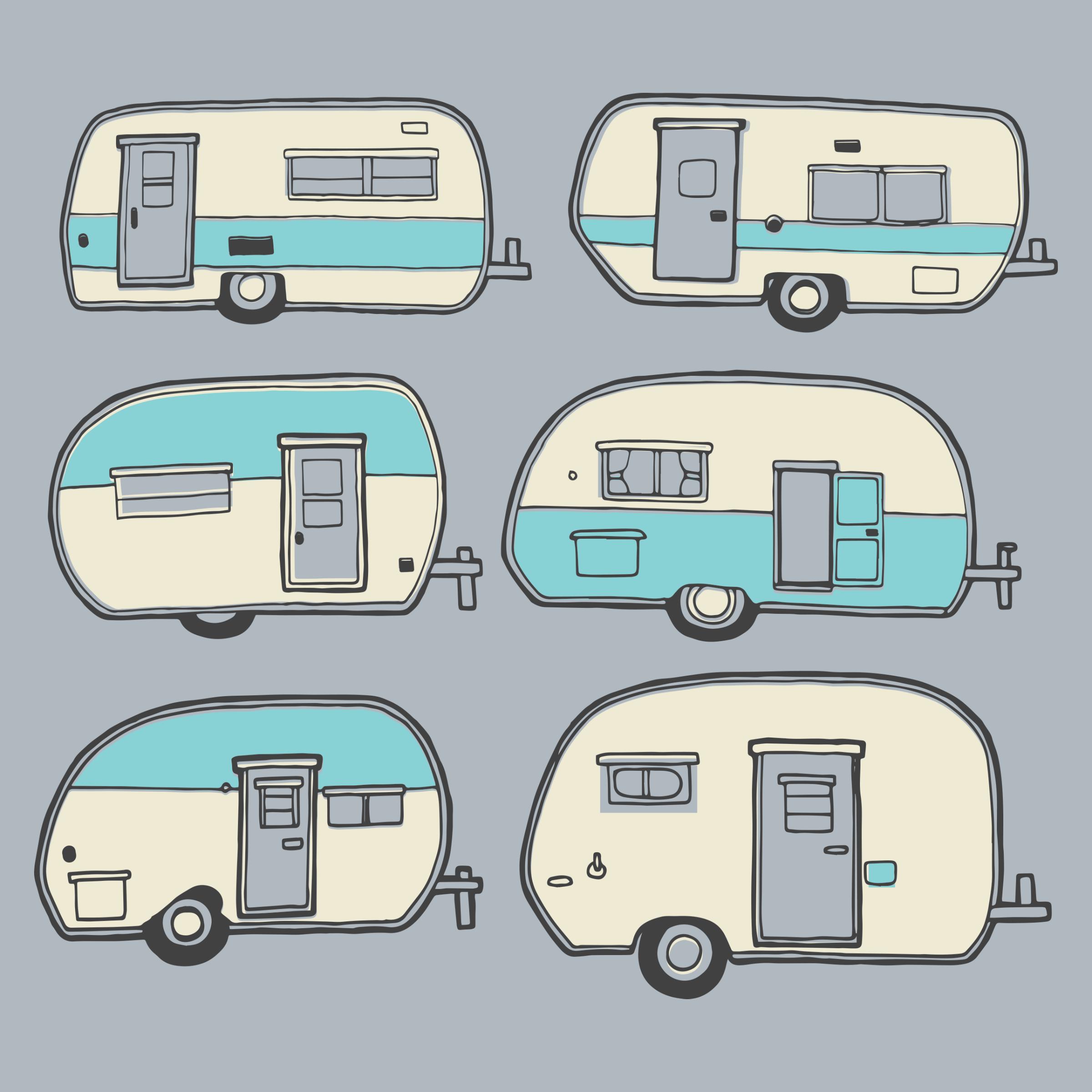 Camper Doodles Detail