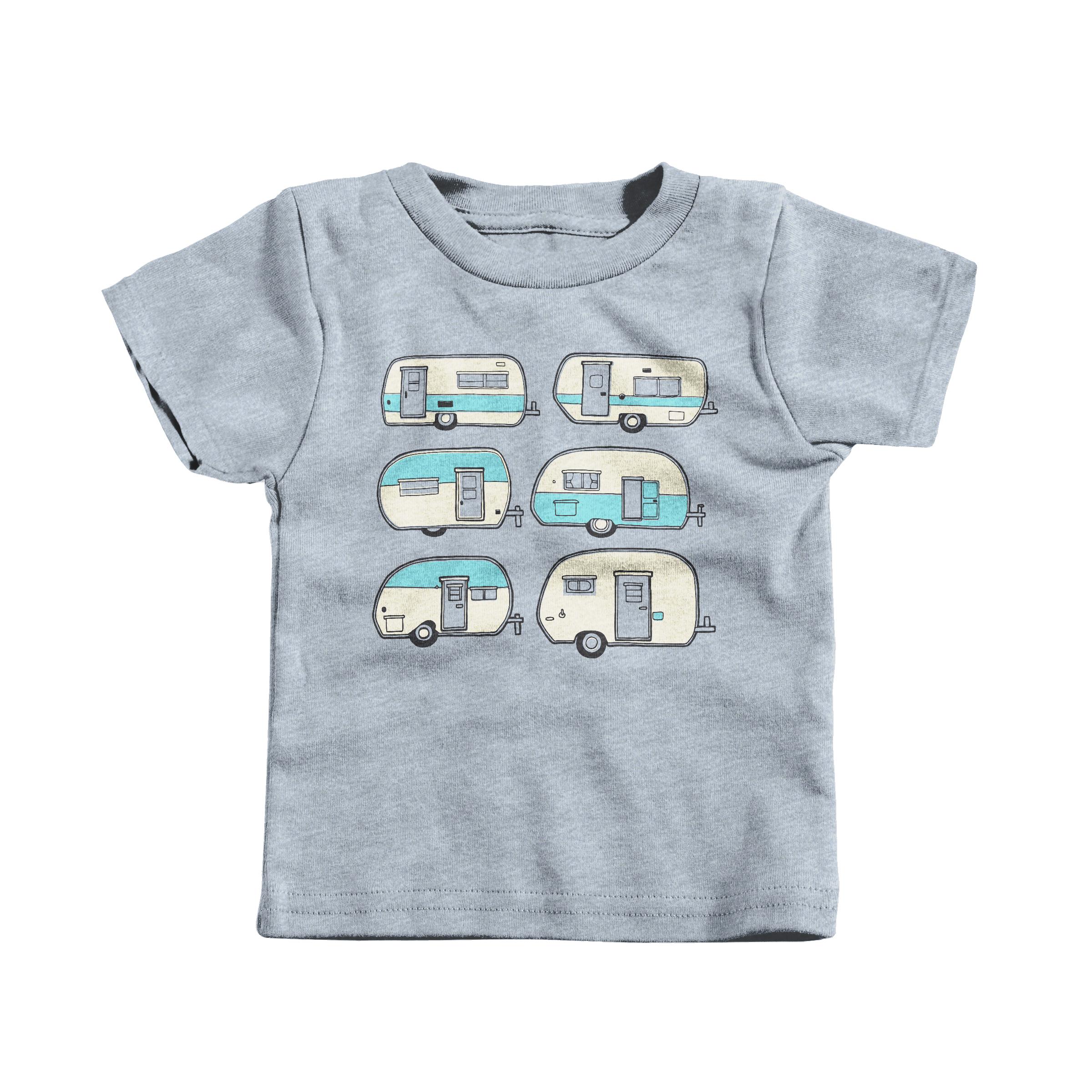 Camper Doodles Heather Grey (T-Shirt)