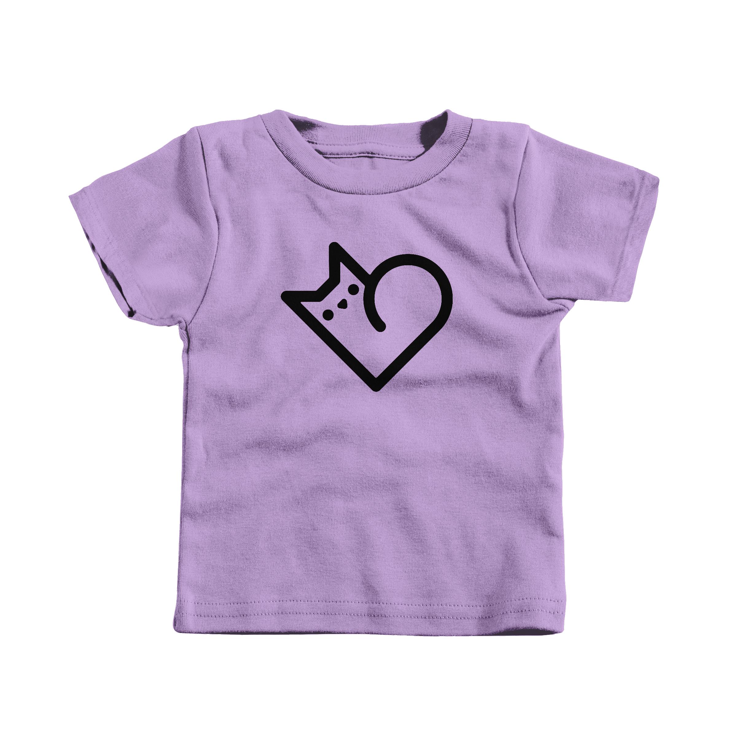 Purr Heart Lavender (T-Shirt)