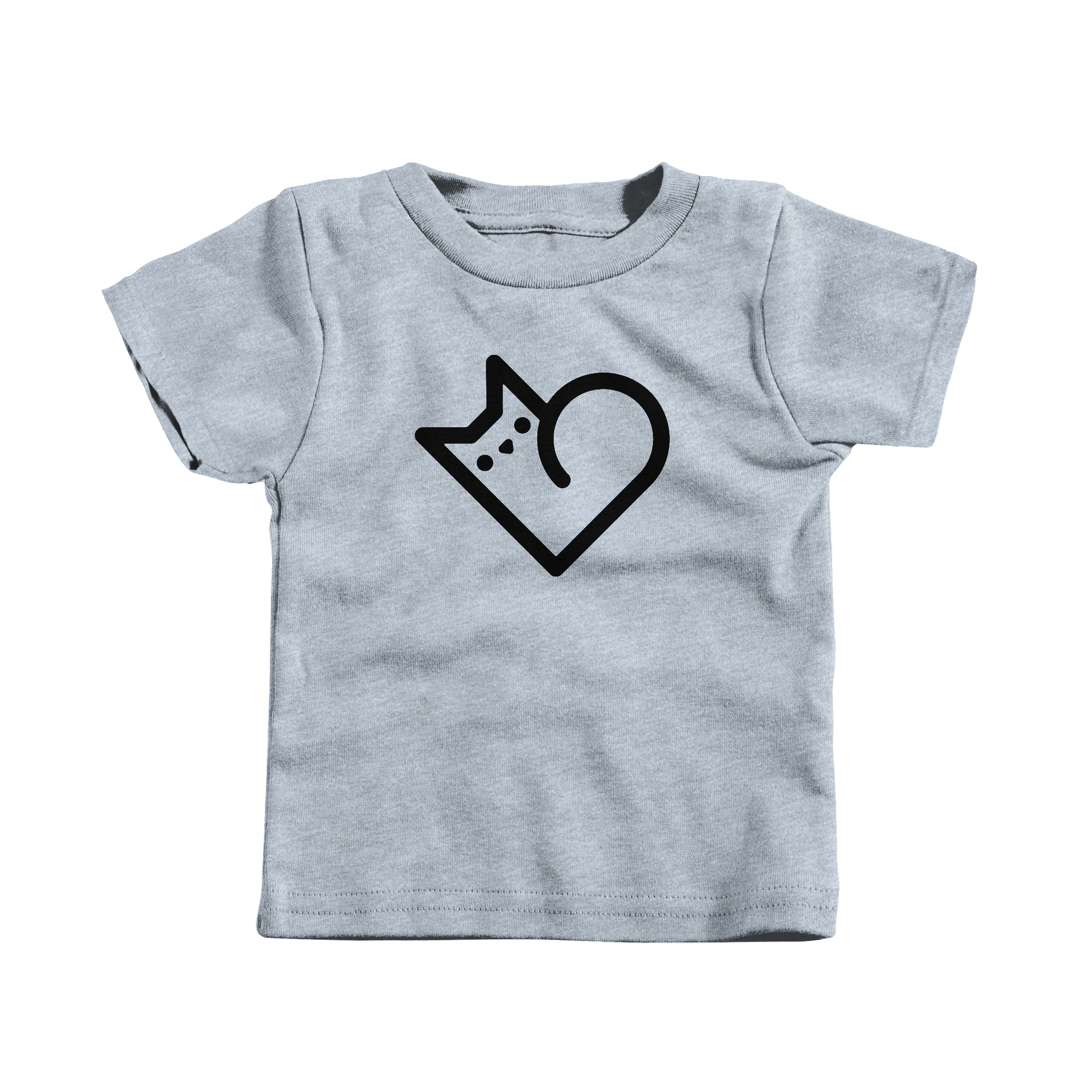 Purr Heart Heather Grey (T-Shirt)
