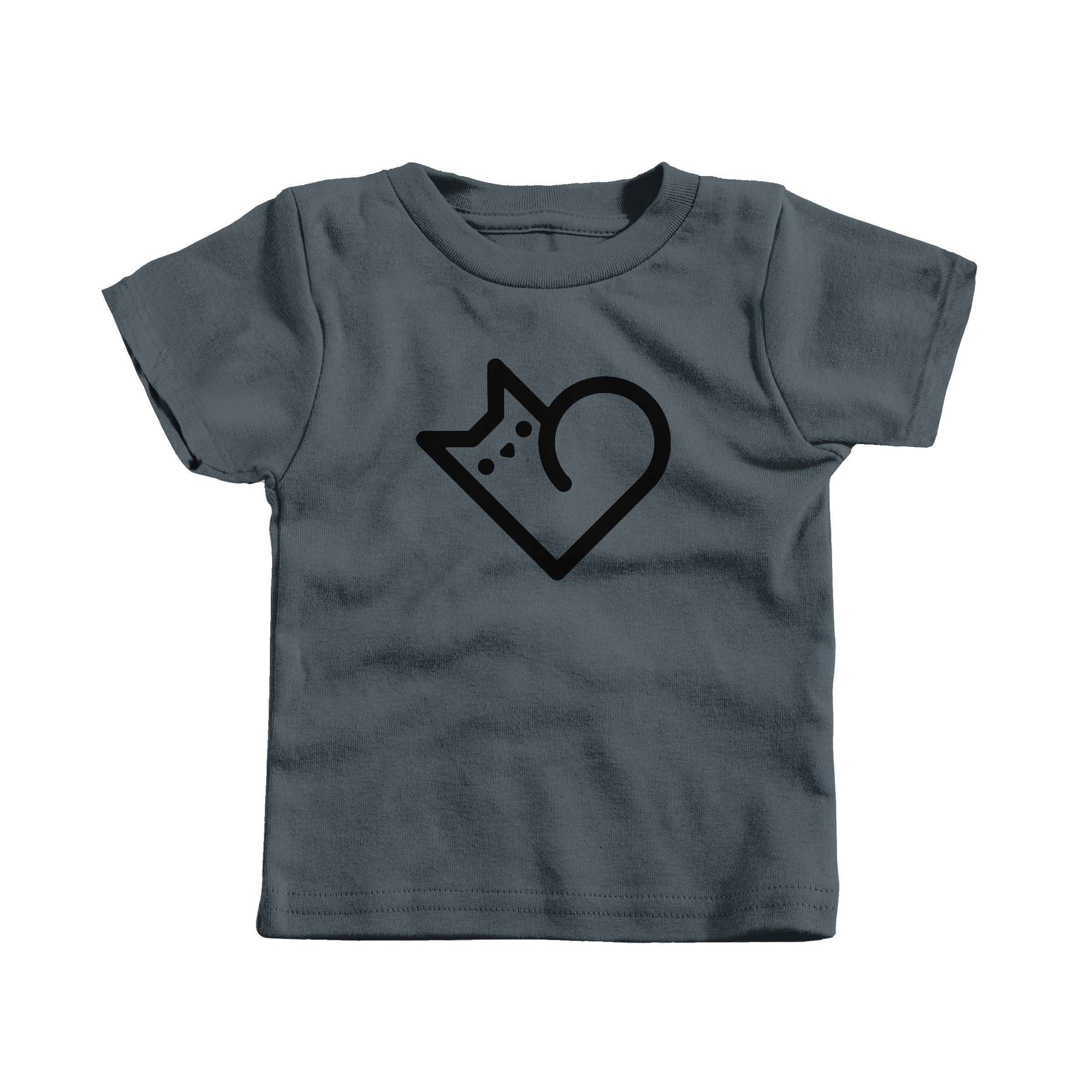 Purr Heart Charcoal (T-Shirt)