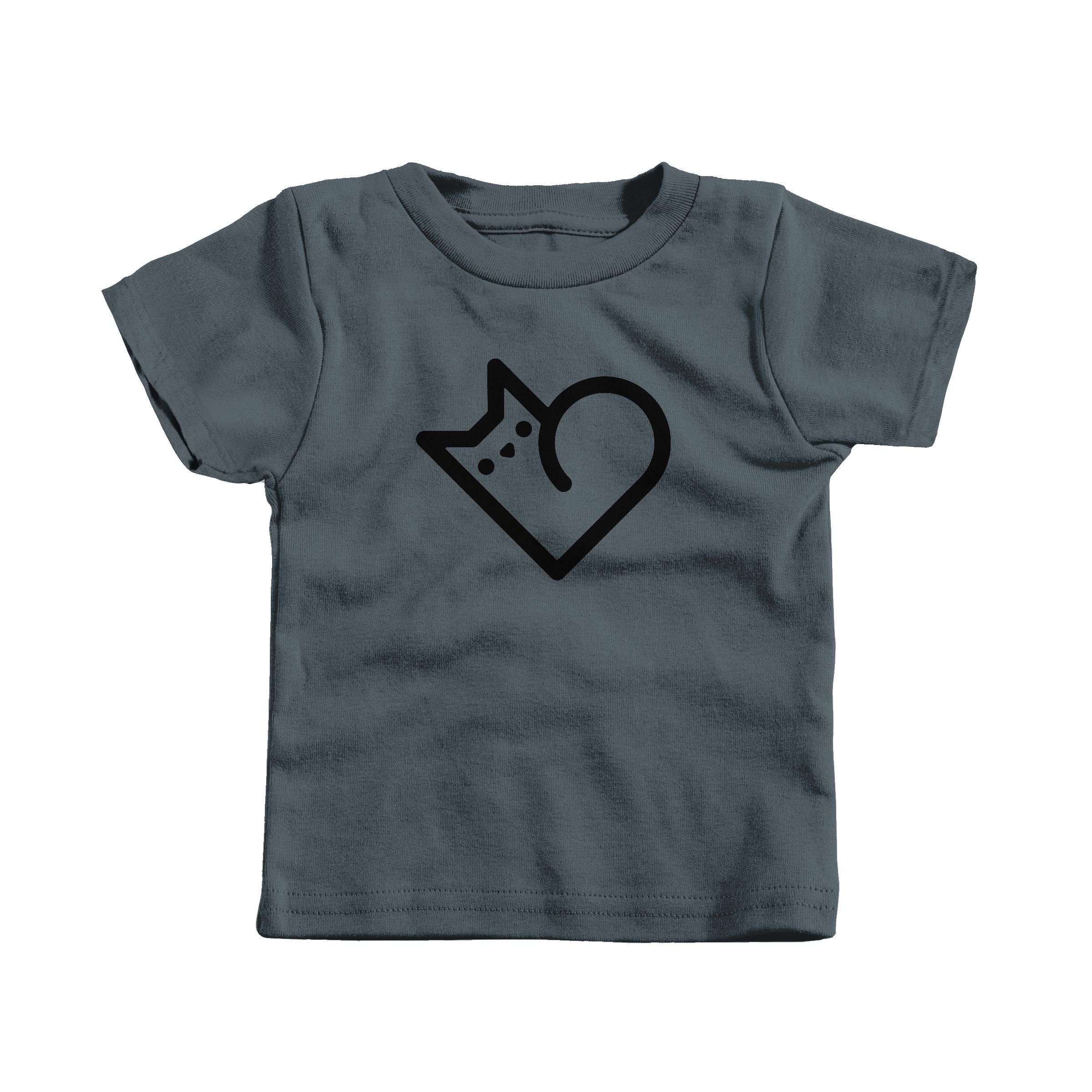 Purr Heart Charcoal (T-Shirt)