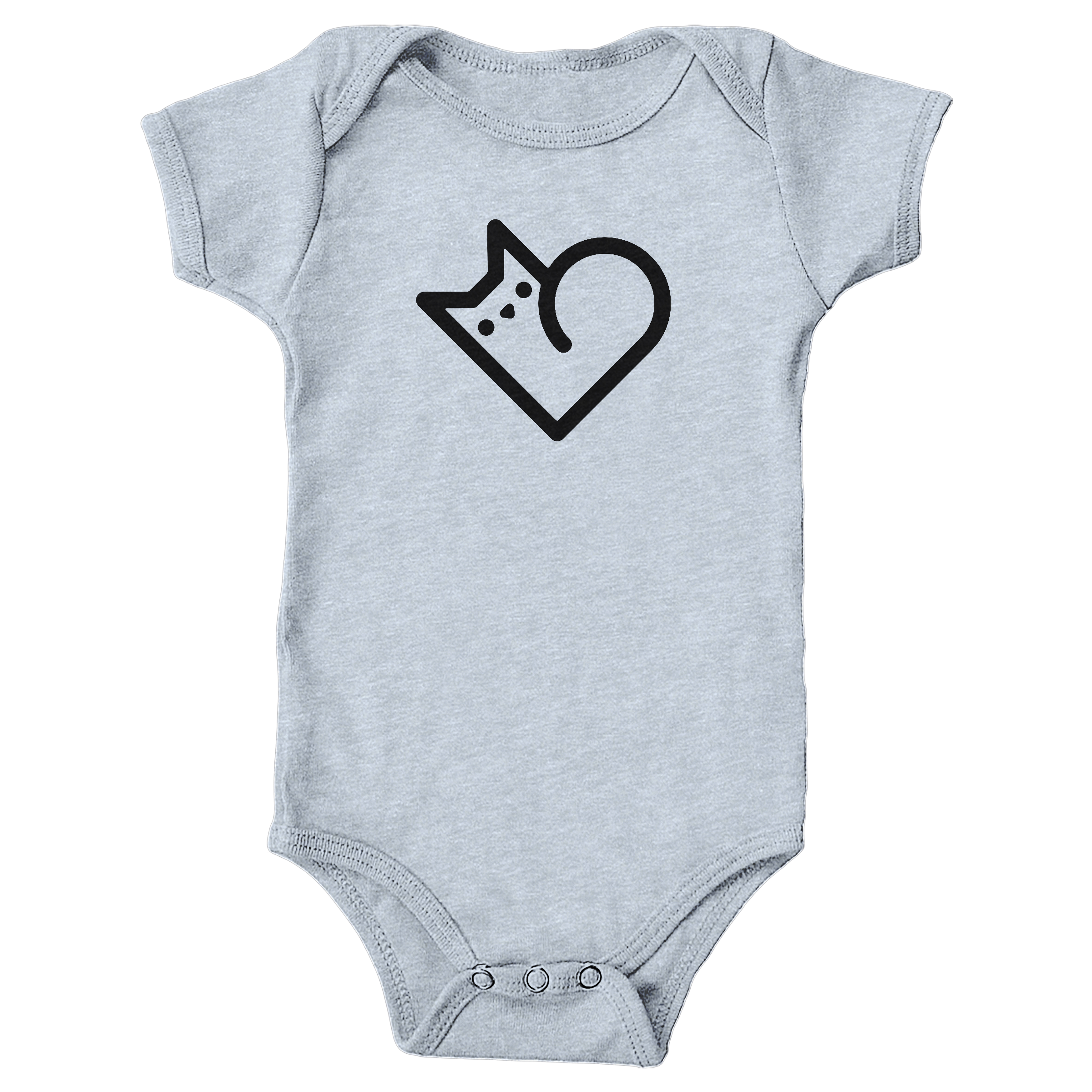 Purr Heart Heather Grey (Onesie)
