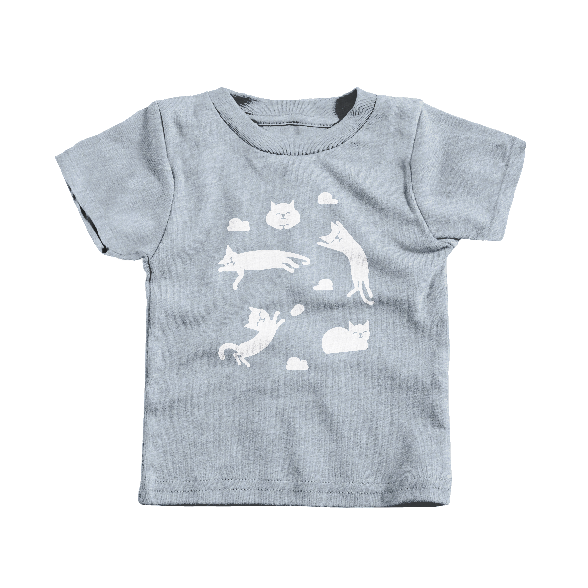 Cat Clouds Heather Grey (T-Shirt)