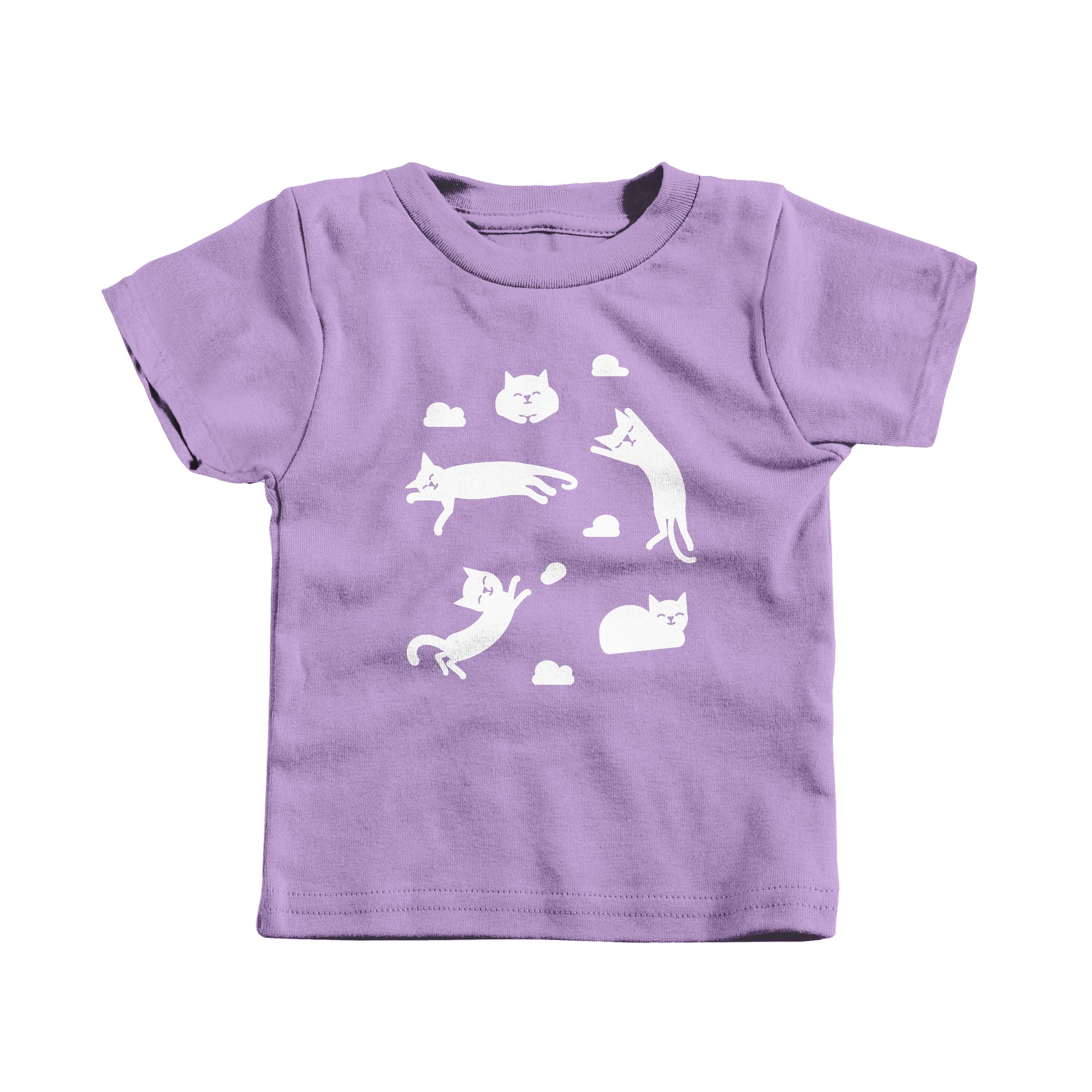Cat Clouds Lavender (T-Shirt)