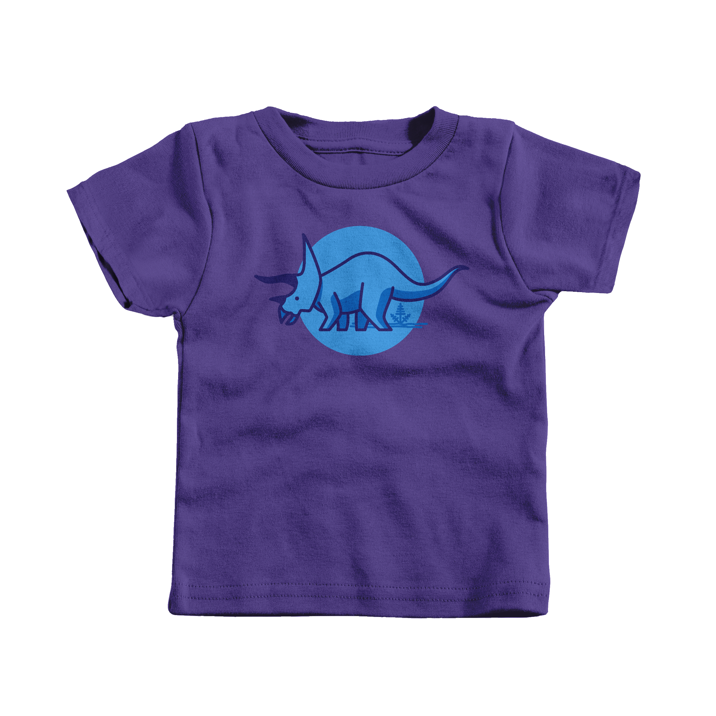 Tee is for Triceratops Purple (T-Shirt)
