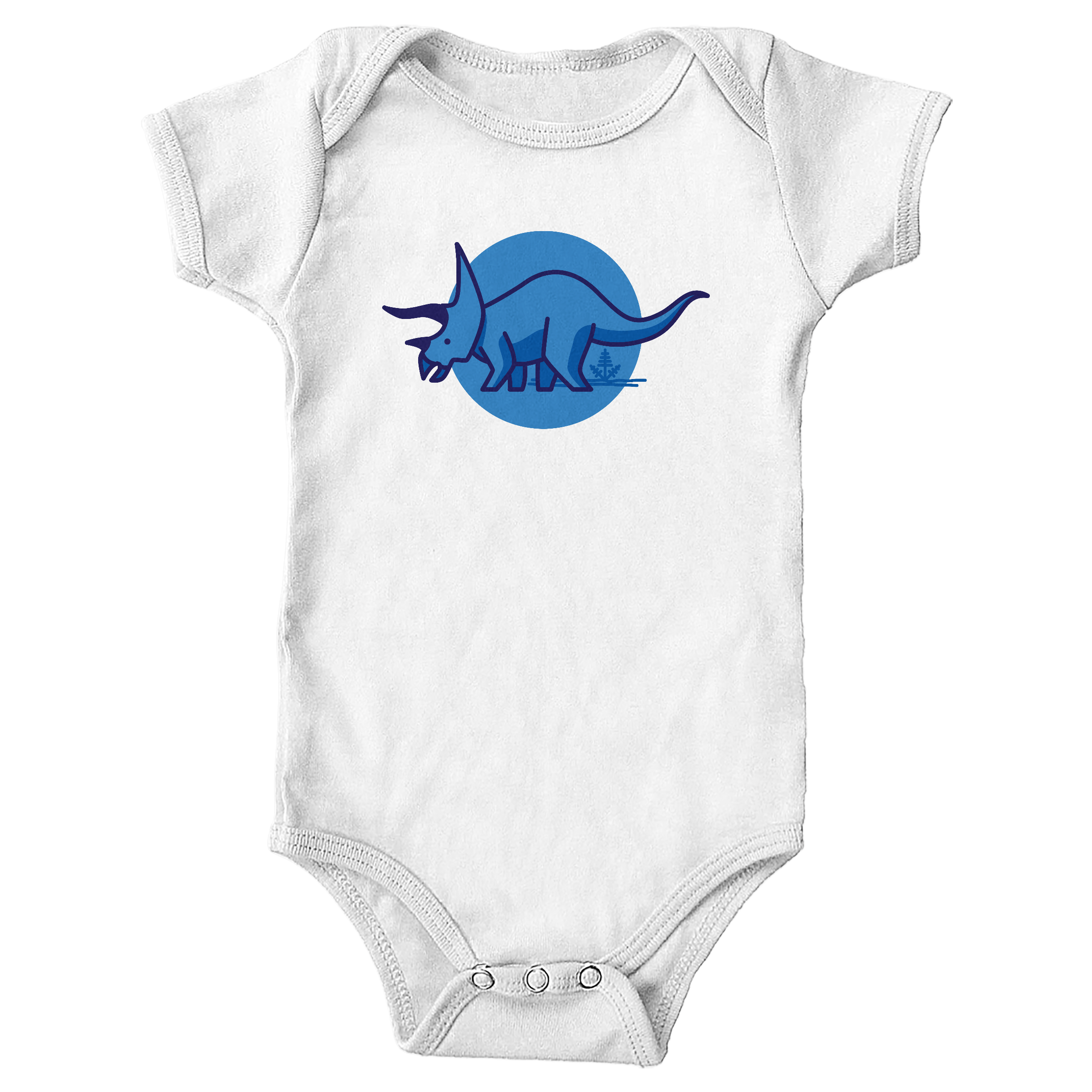 Tee is for Triceratops White (Onesie)