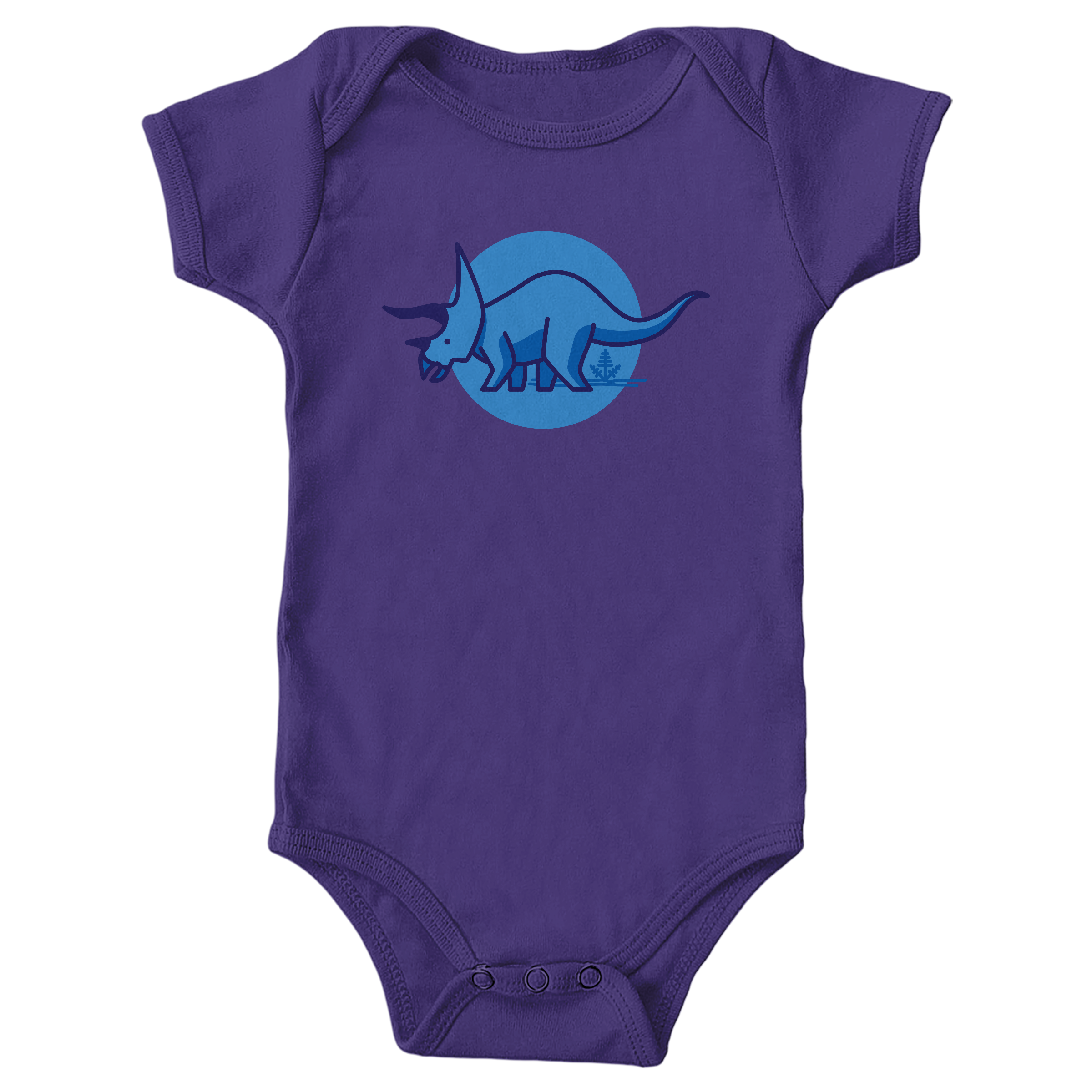 Tee is for Triceratops Purple (Onesie)