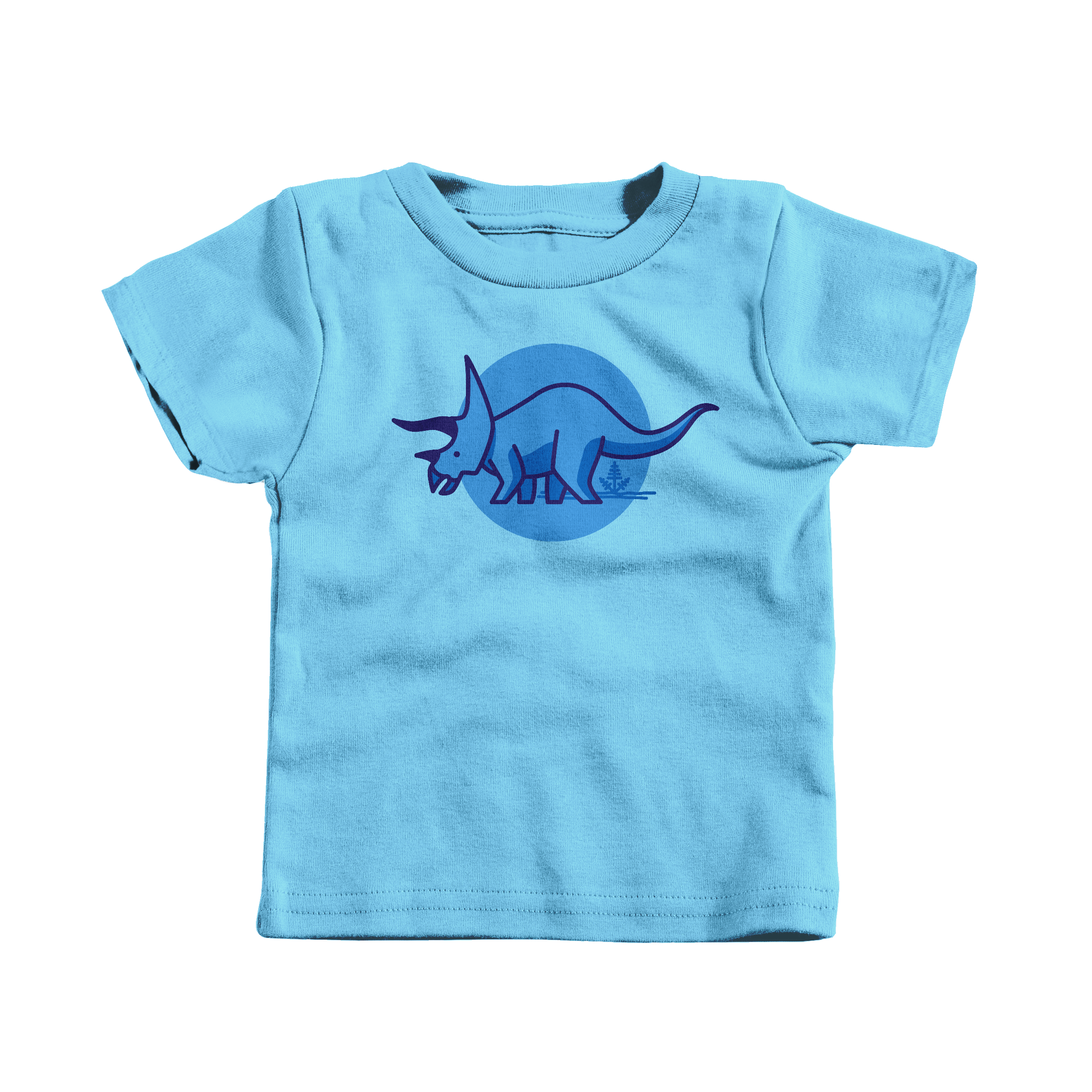Tee is for Triceratops Light Blue (T-Shirt)