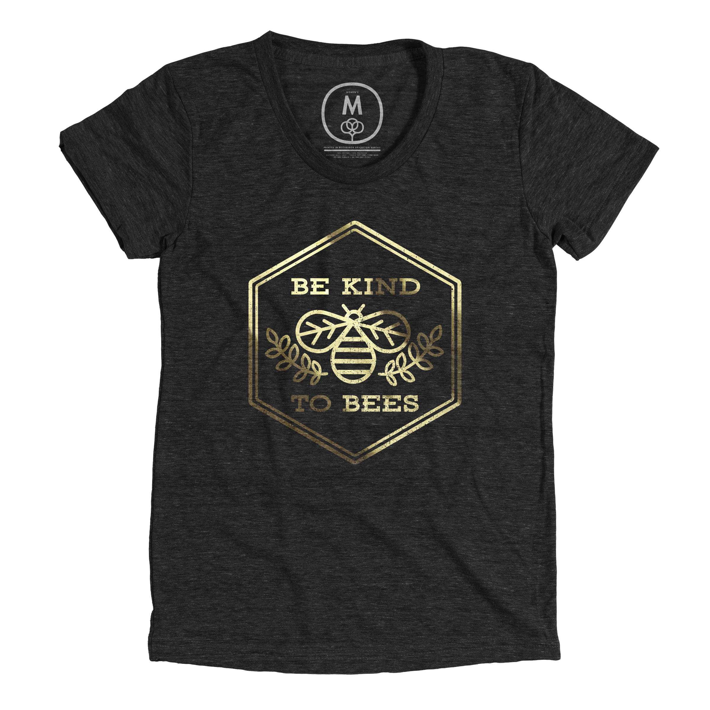 Be Kind to Bees Vintage Black (Women's)