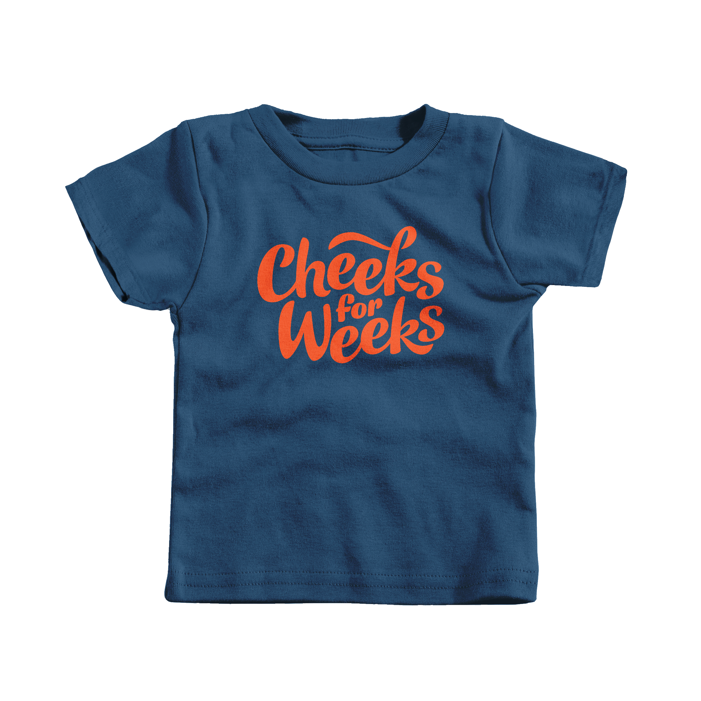 Cheeks for Weeks Navy (T-Shirt)