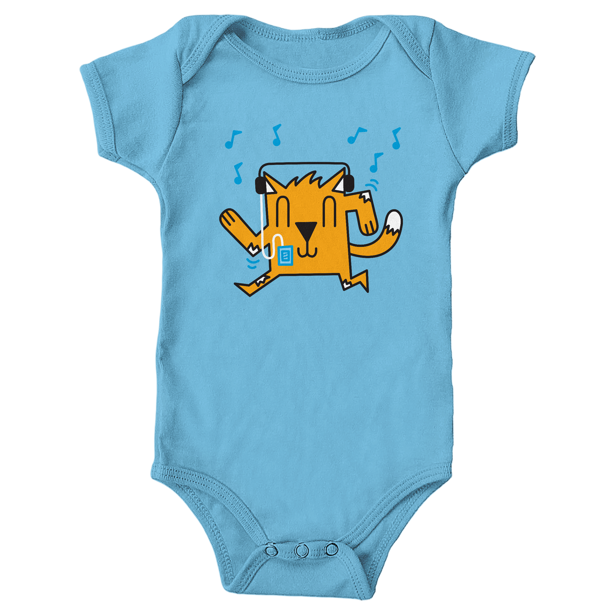 Dancing Cat Light Blue (Onesie)