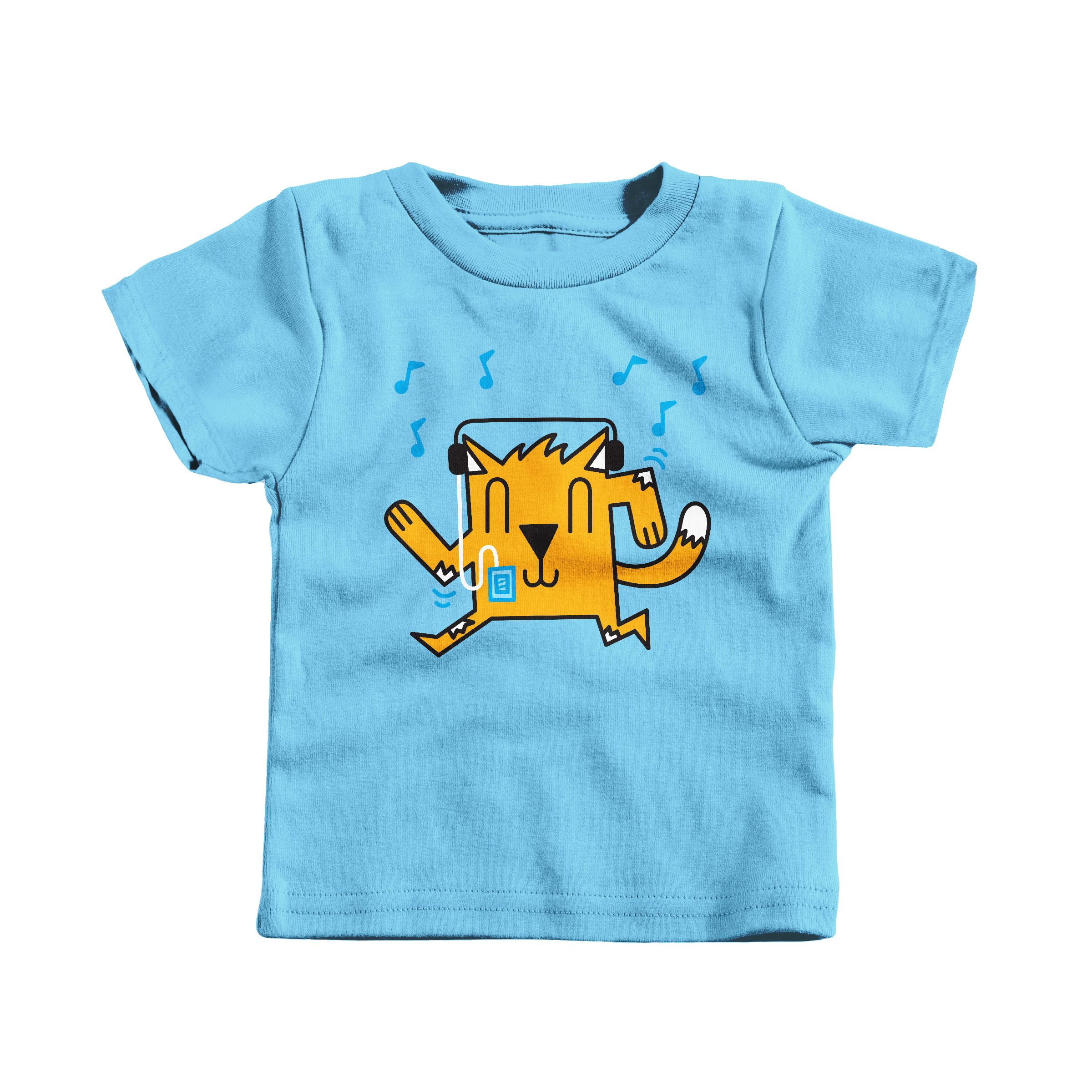 Dancing Cat Light Blue (T-Shirt)