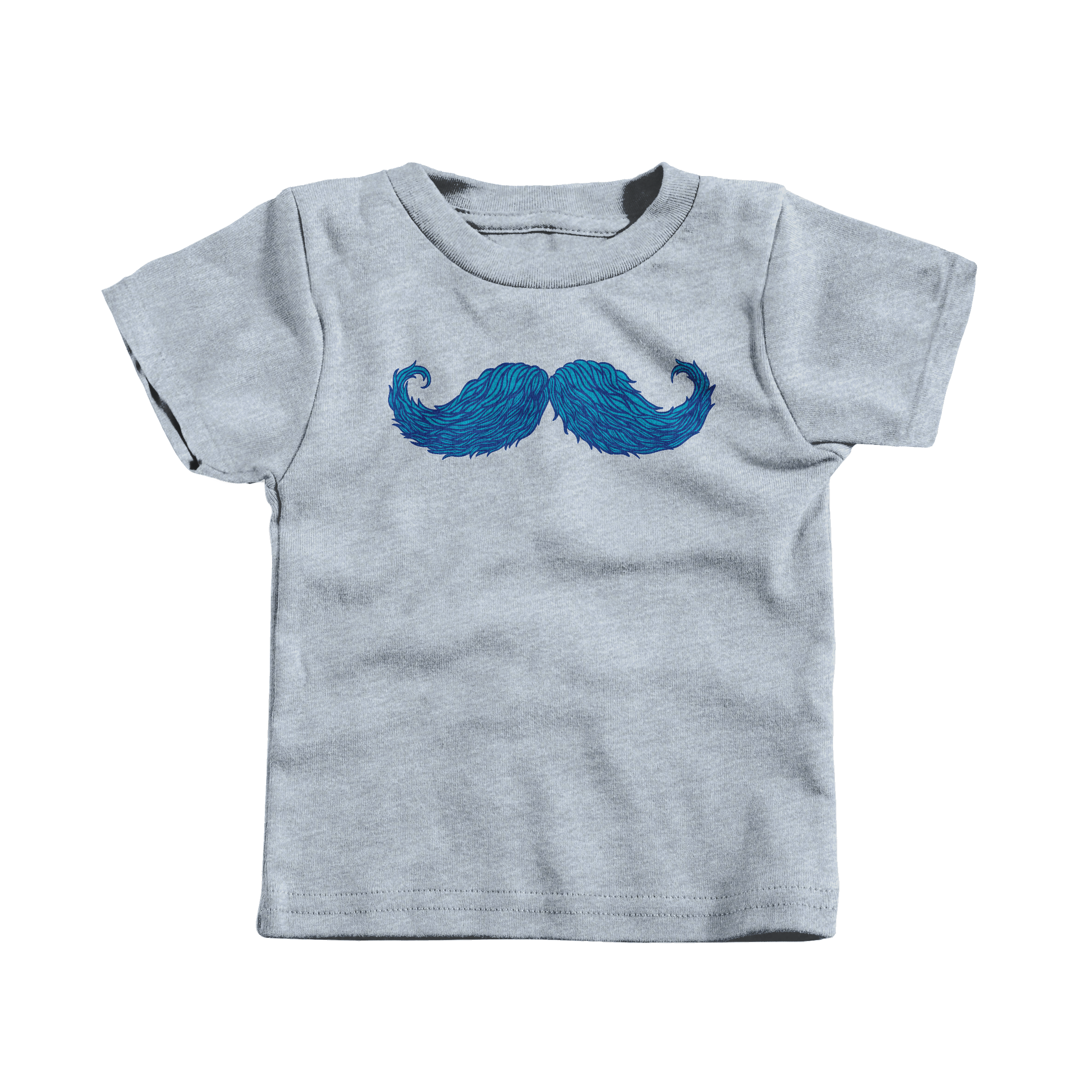 The Cheering Up Mustache Heather Grey (T-Shirt)