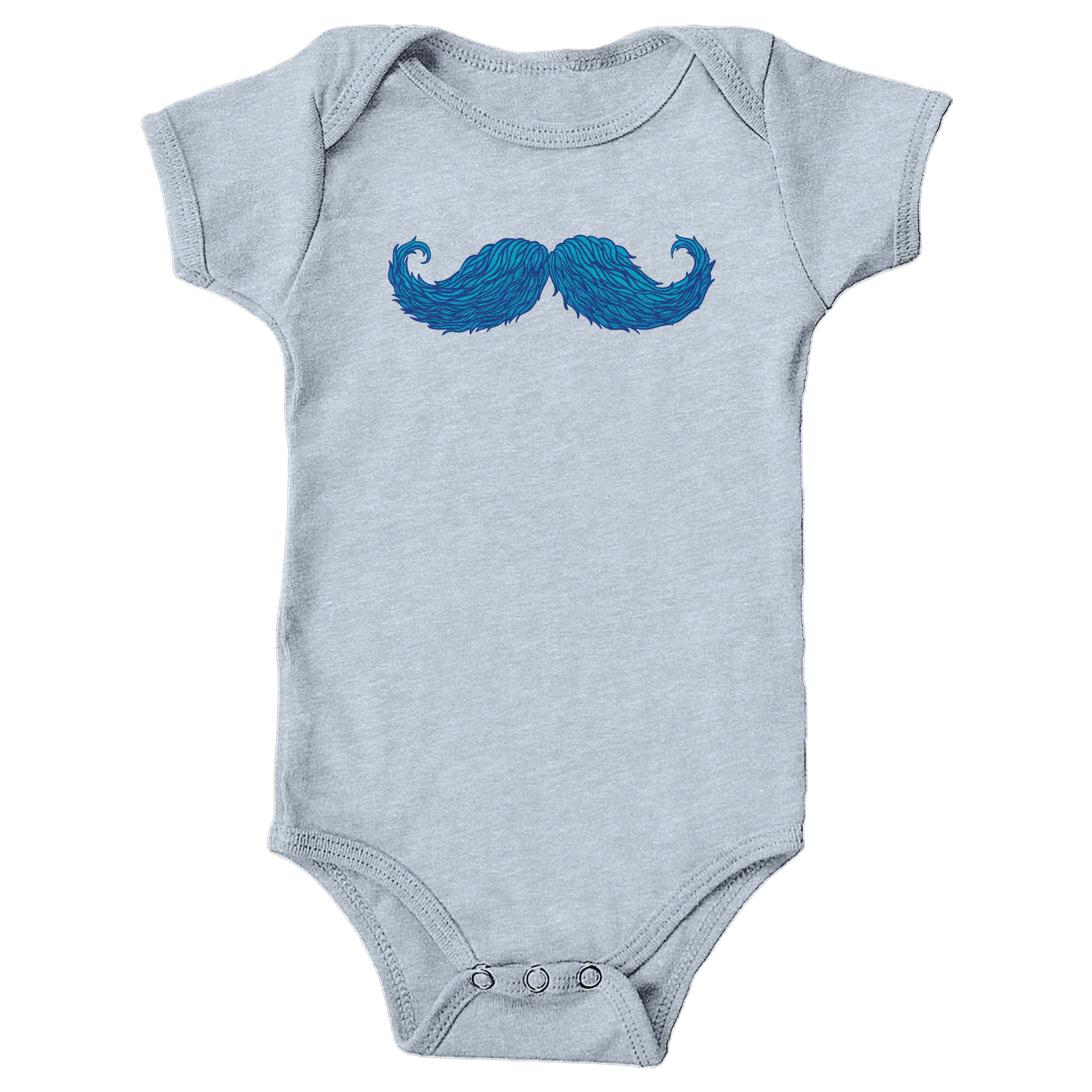 The Cheering Up Mustache Heather Grey (Onesie)