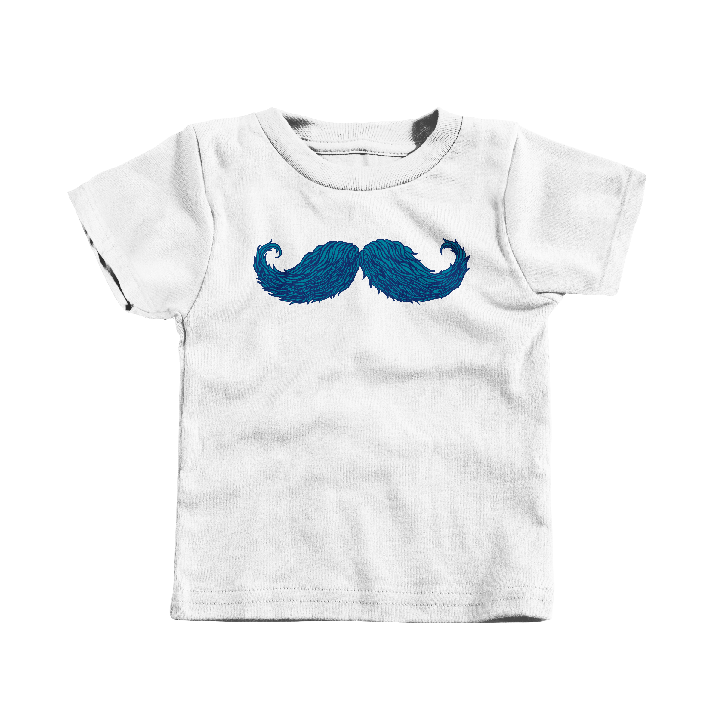 The Cheering Up Mustache White (T-Shirt)