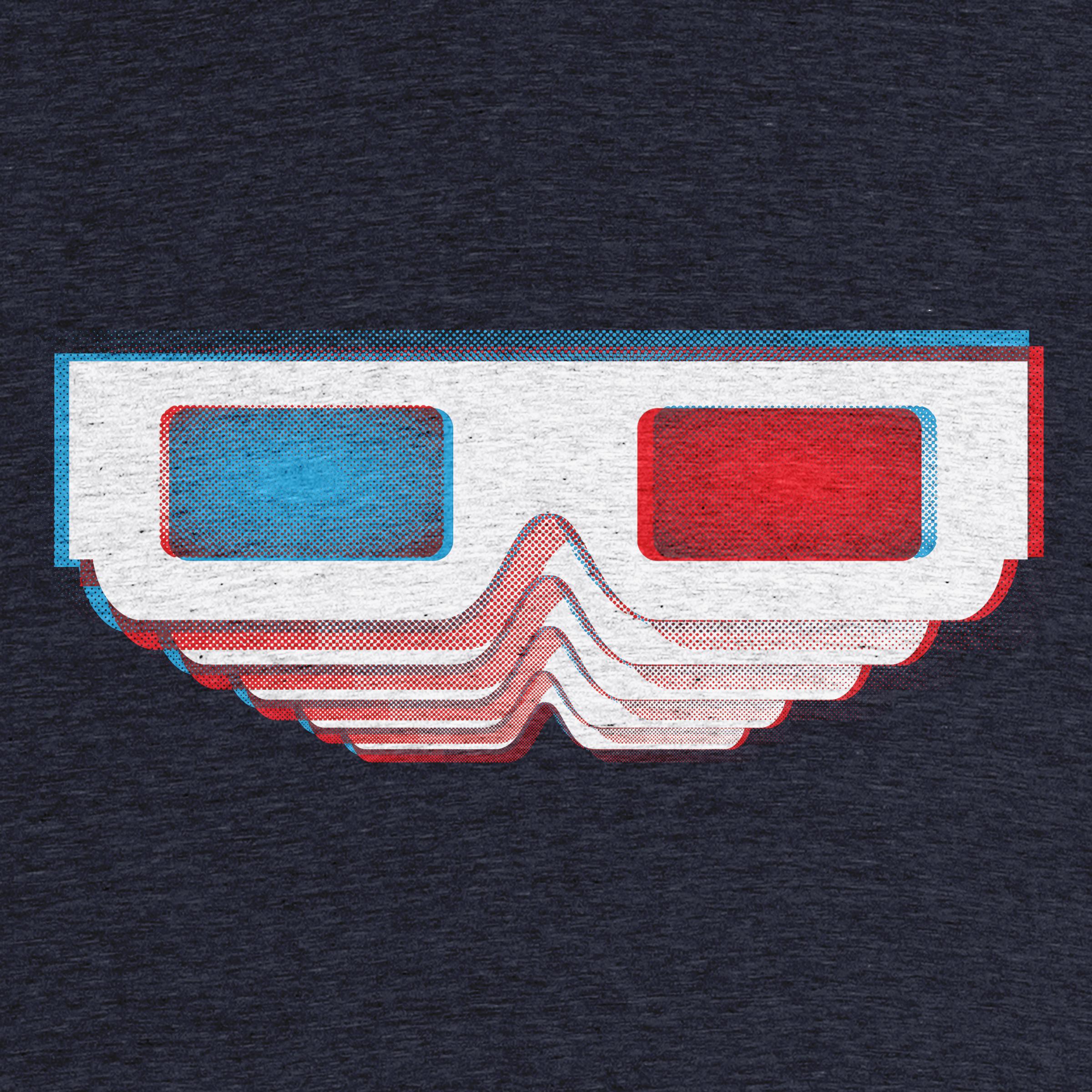 3D glasses in 3D