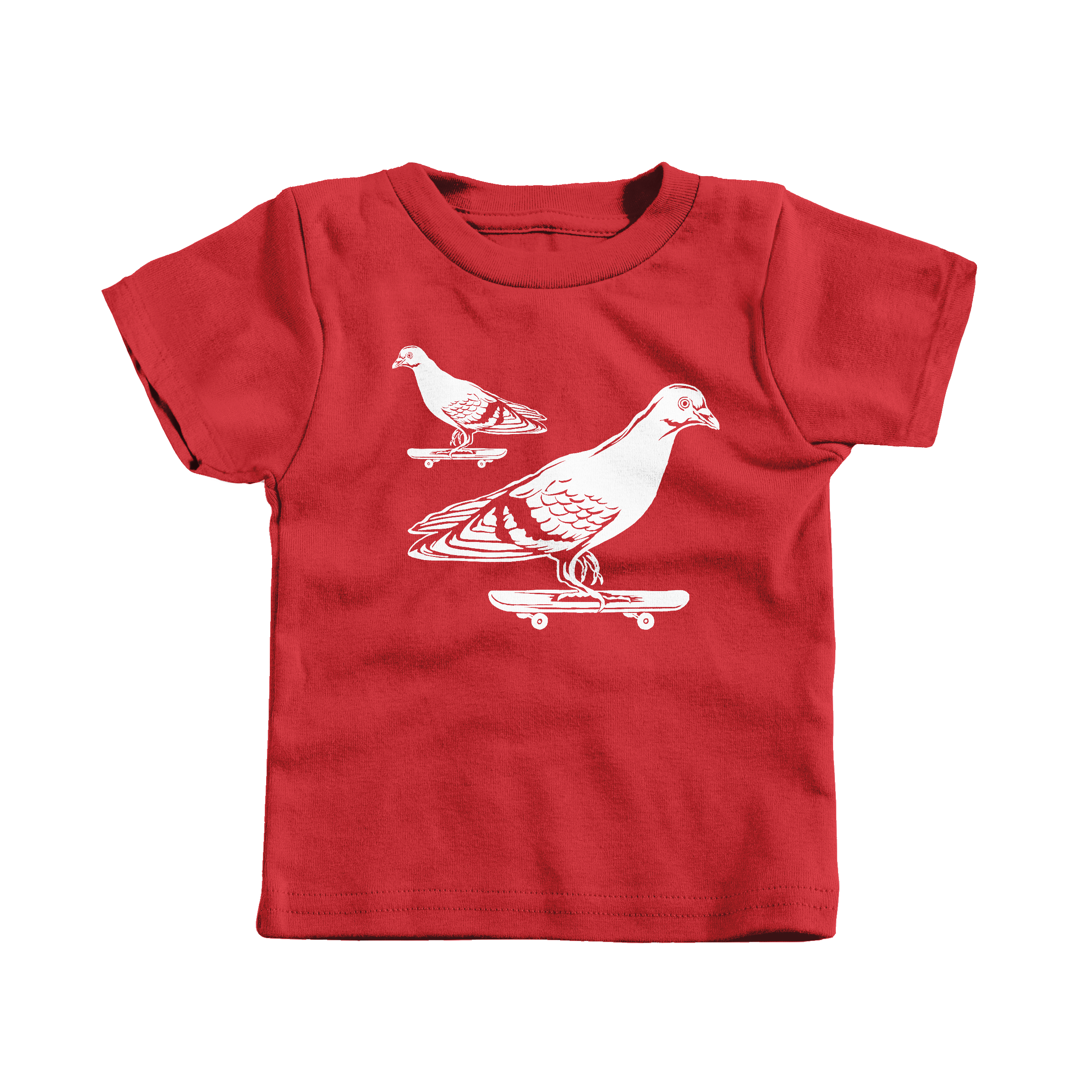 Skateboarding Pigeons Red (T-Shirt)