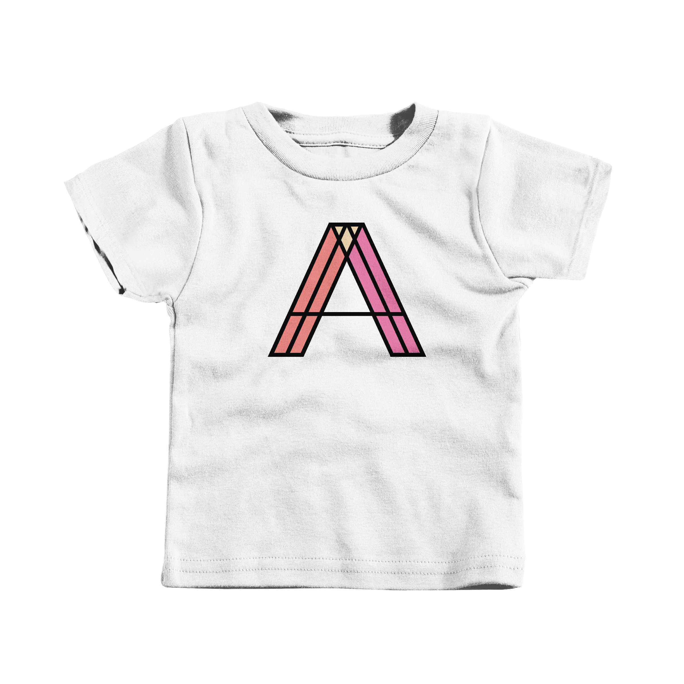 Letter A White (T-Shirt)