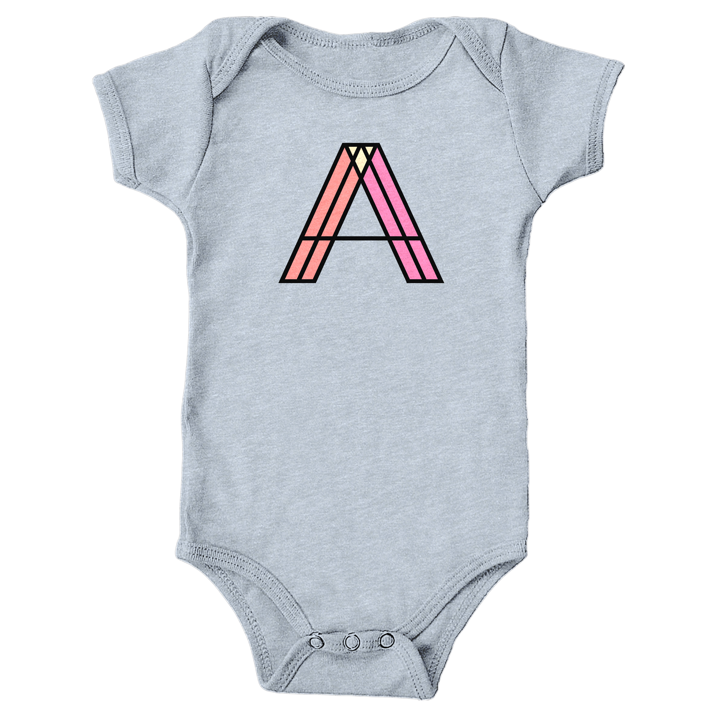 Letter A Heather Grey (Onesie)