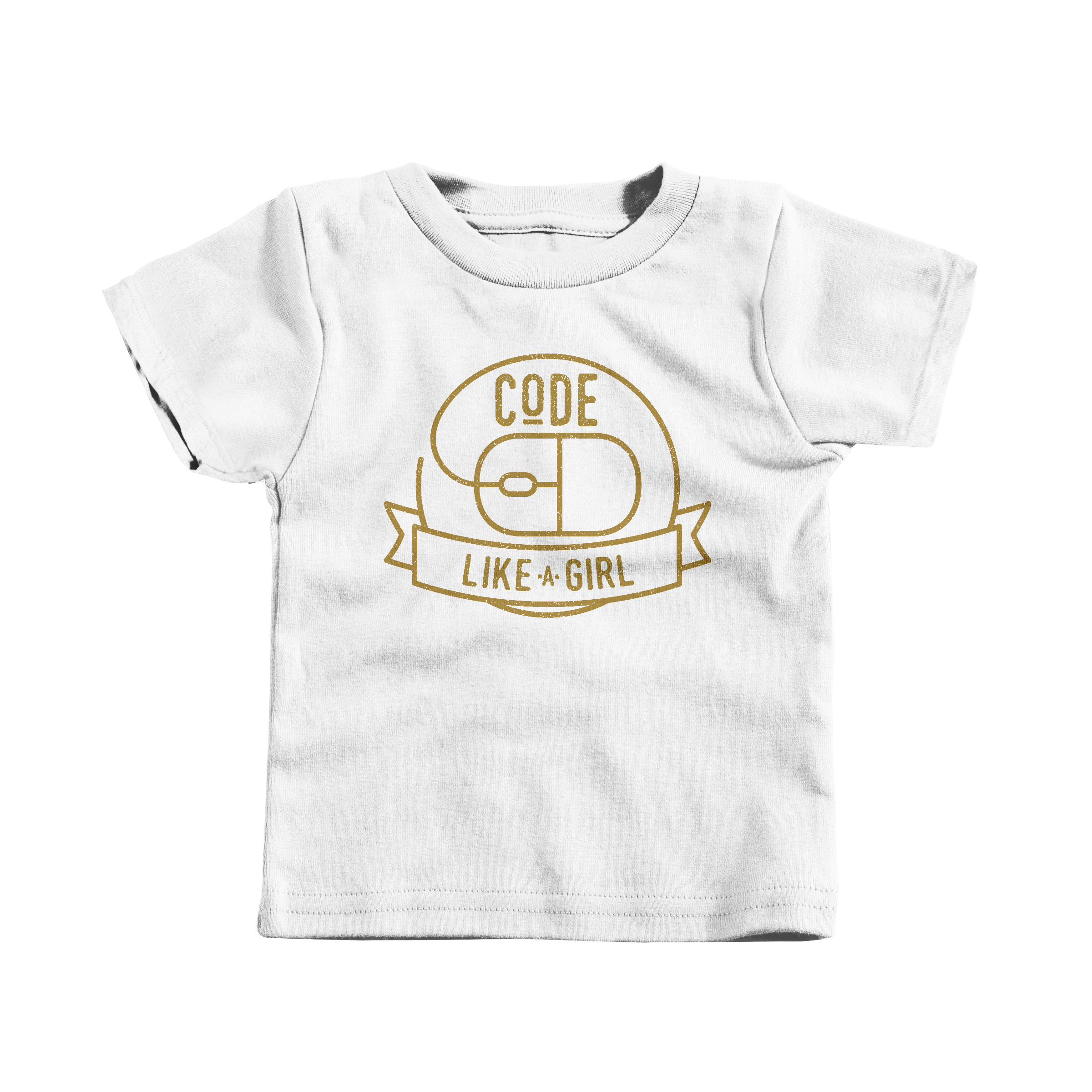 Code Like A Girl White (T-Shirt)
