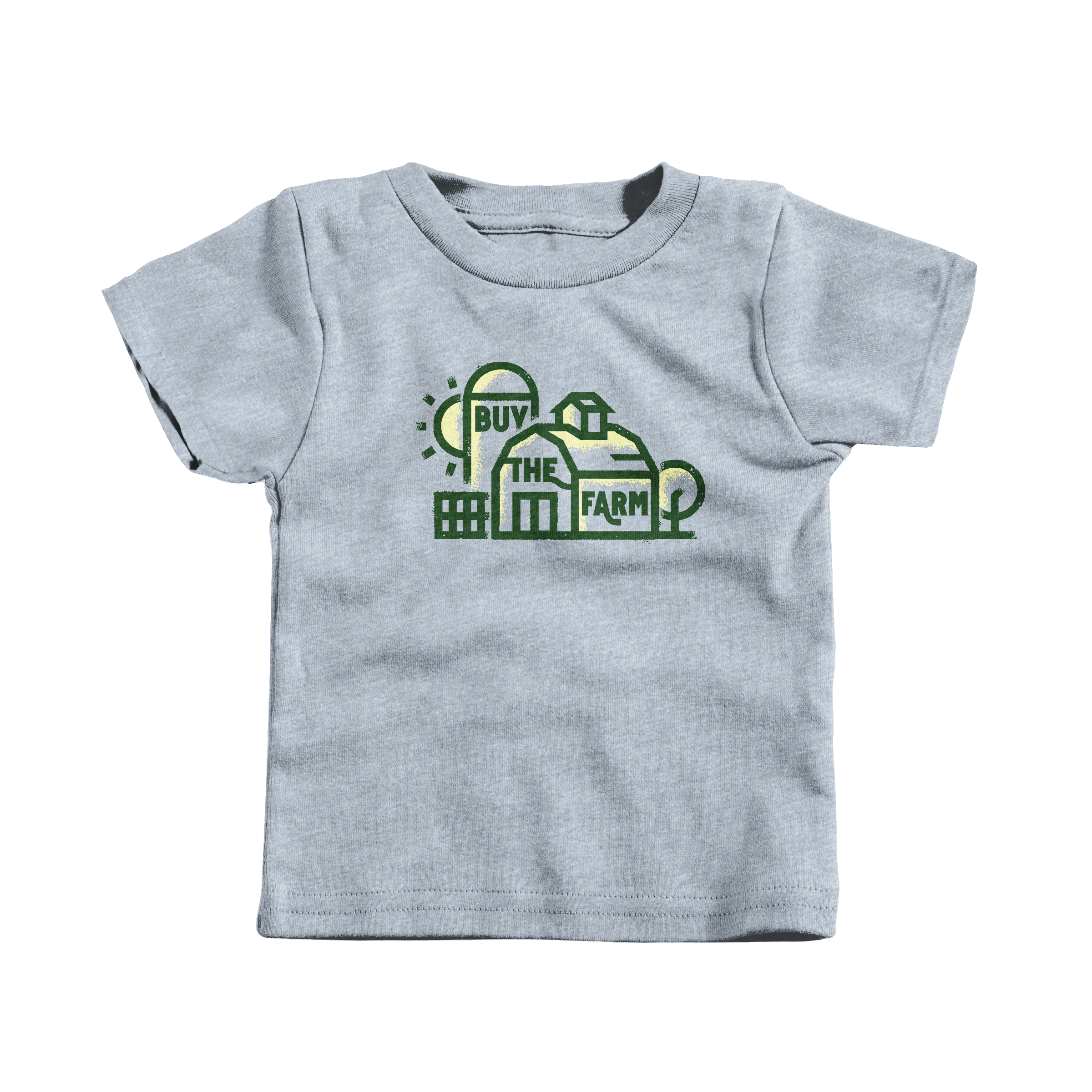 Buy the Farm. Heather Grey (T-Shirt)