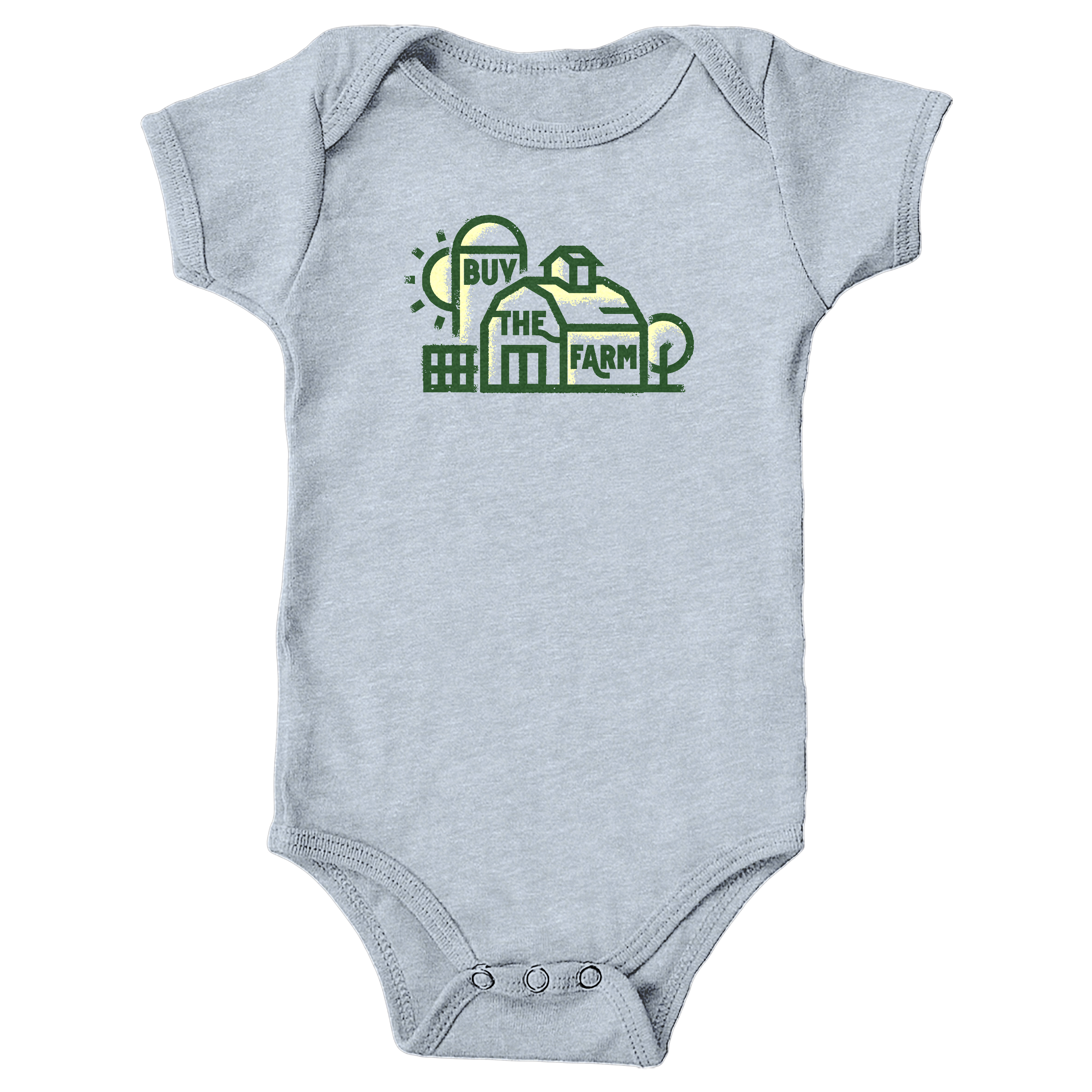 Buy the Farm. Heather Grey (Onesie)