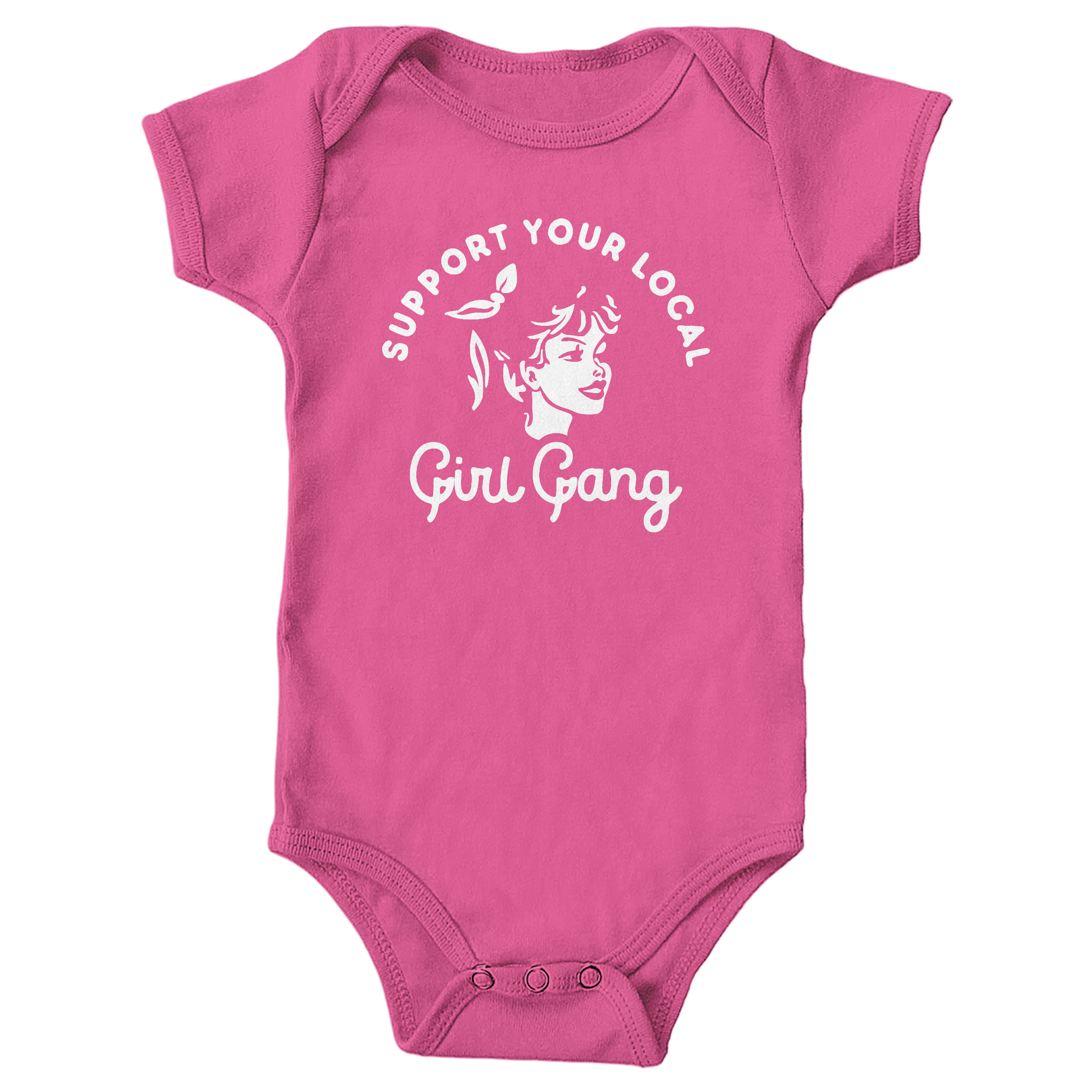 Girl Gang Hot Pink (Onesie)