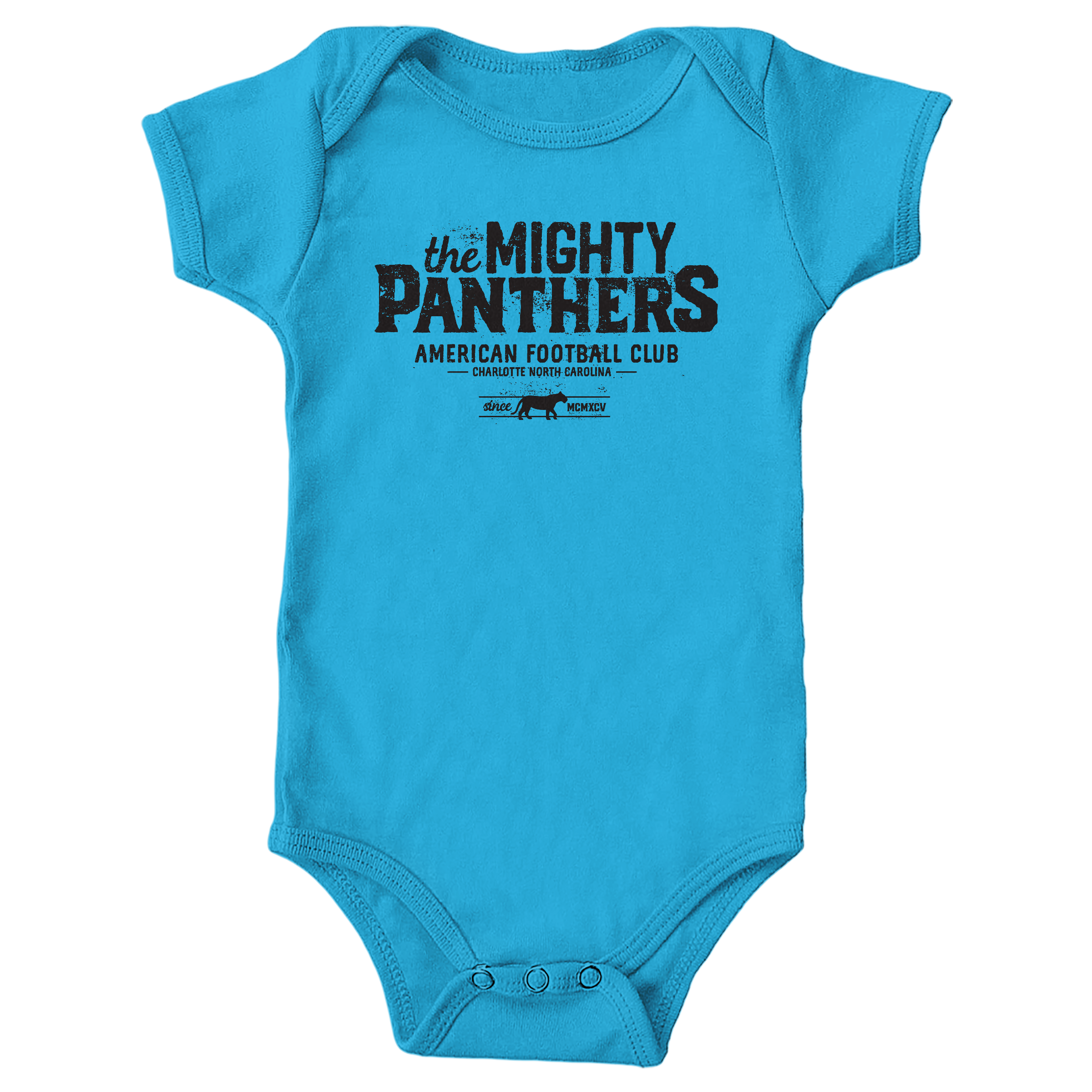 The Mighty Panthers Turquoise (Onesie)