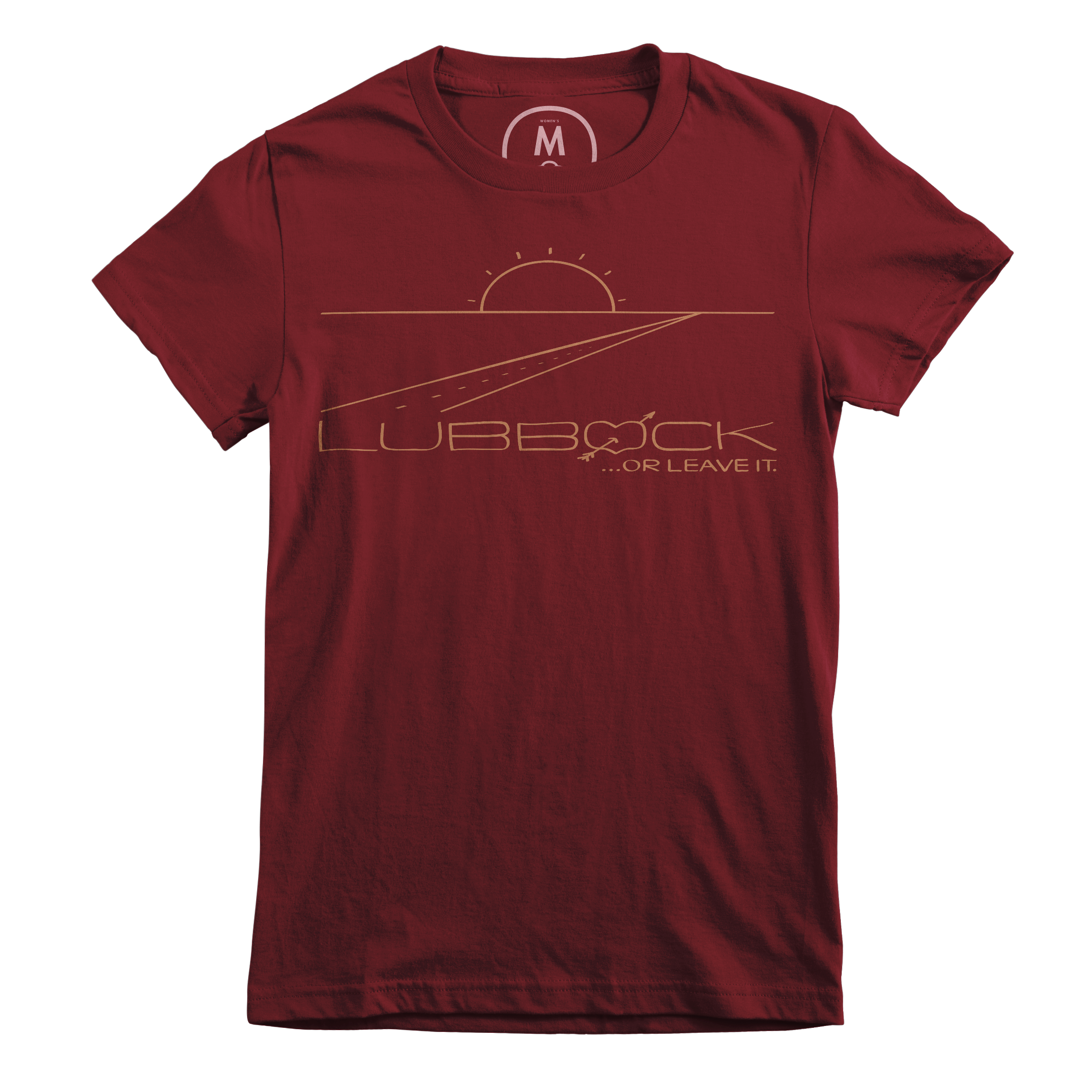 Lubbock or Leave It. Maroon (Women's)