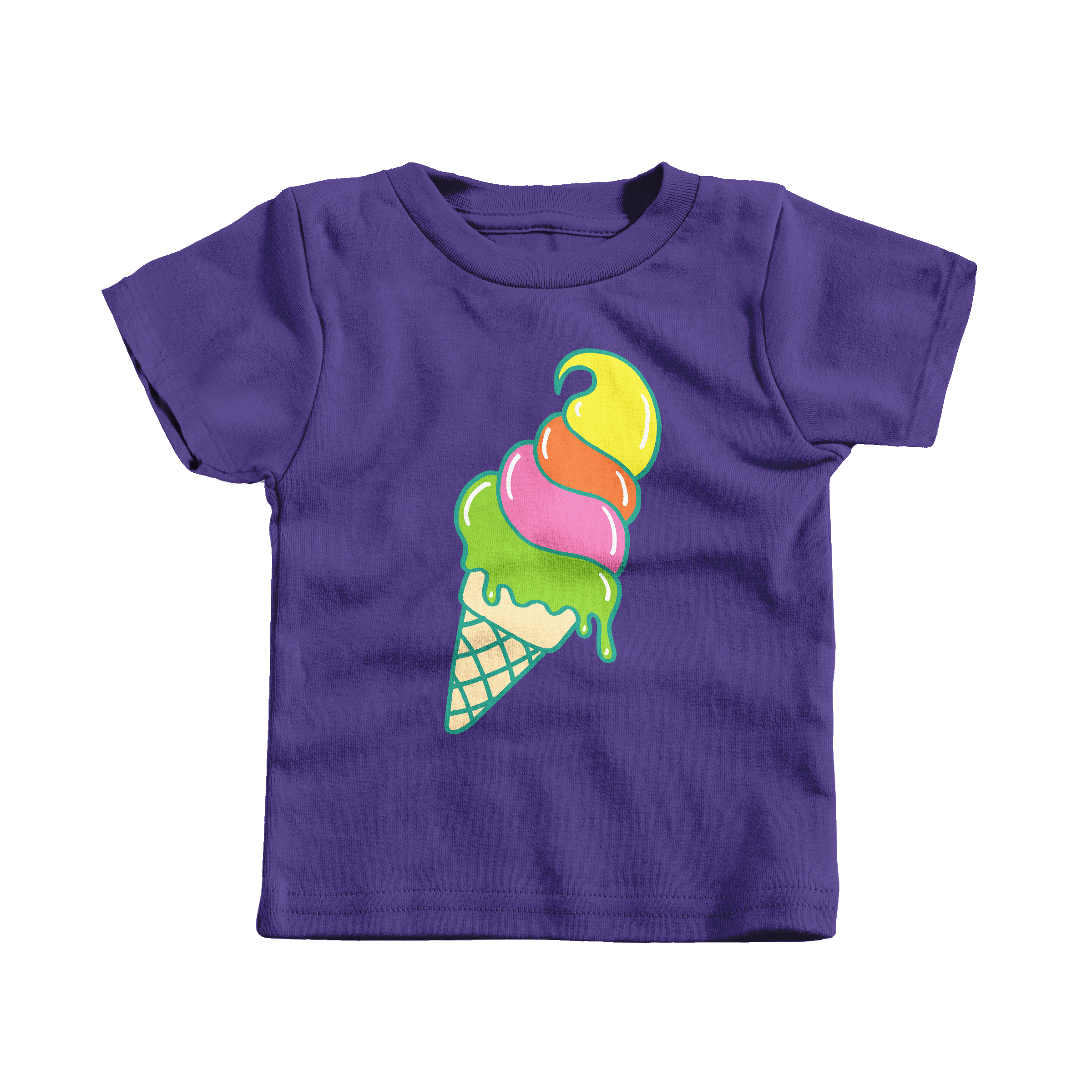 Ice Cream Cone Purple (T-Shirt)