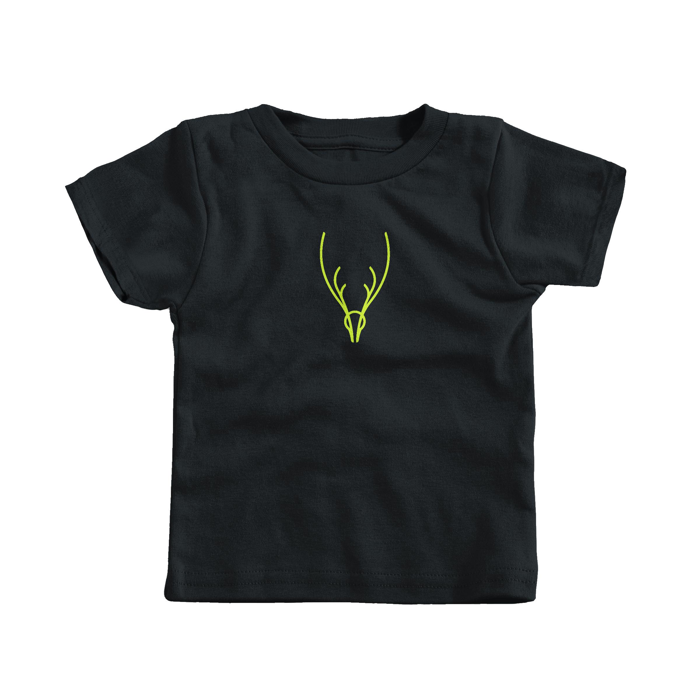 Neon Antlers Black (T-Shirt)