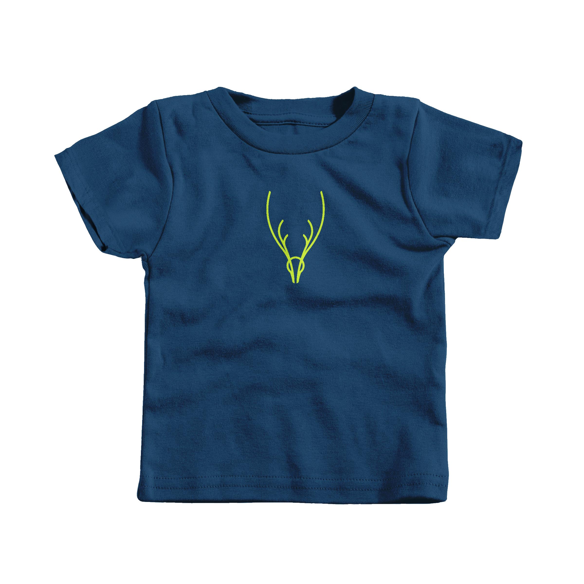 Neon Antlers Navy (T-Shirt)