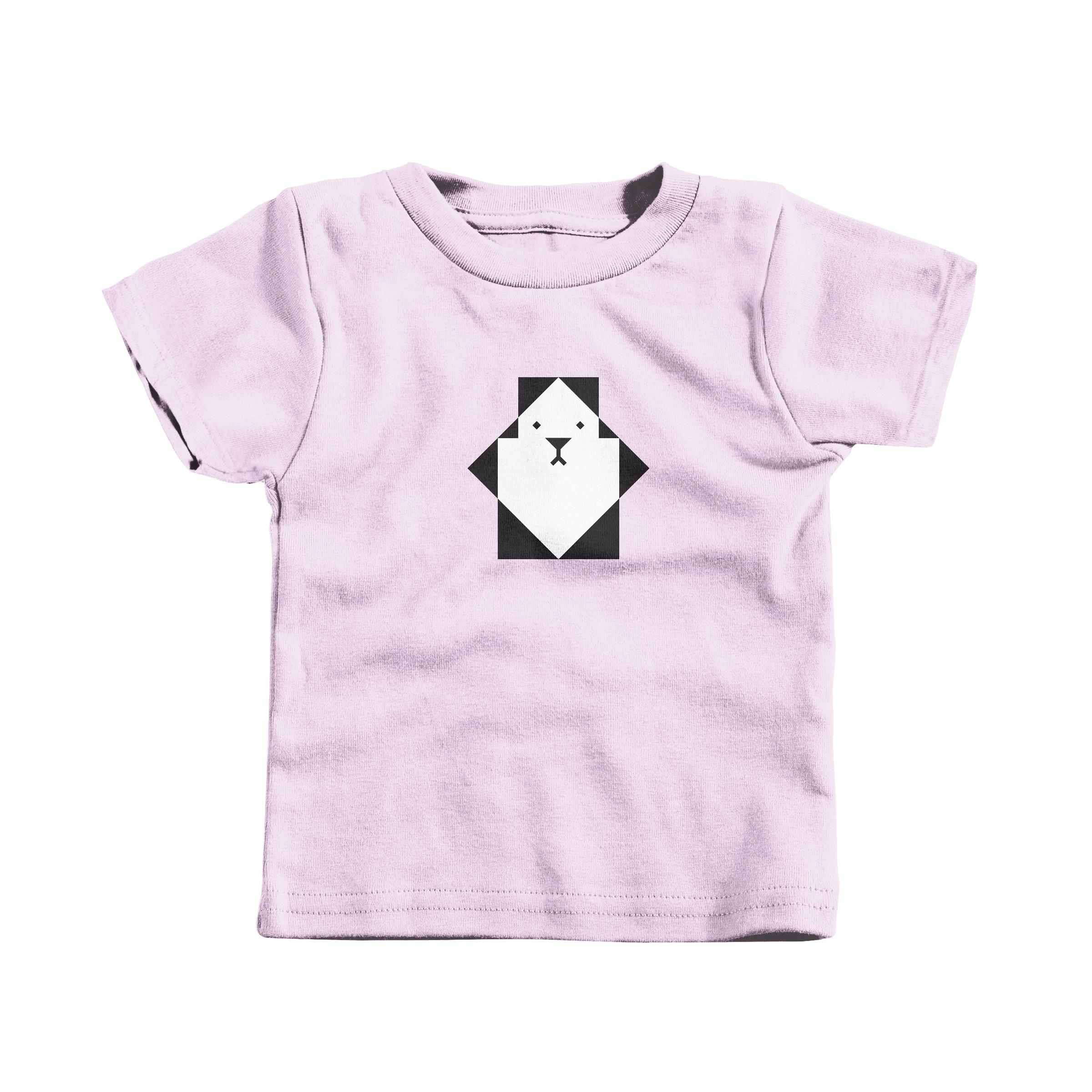 Pixel Panda Pink (T-Shirt)