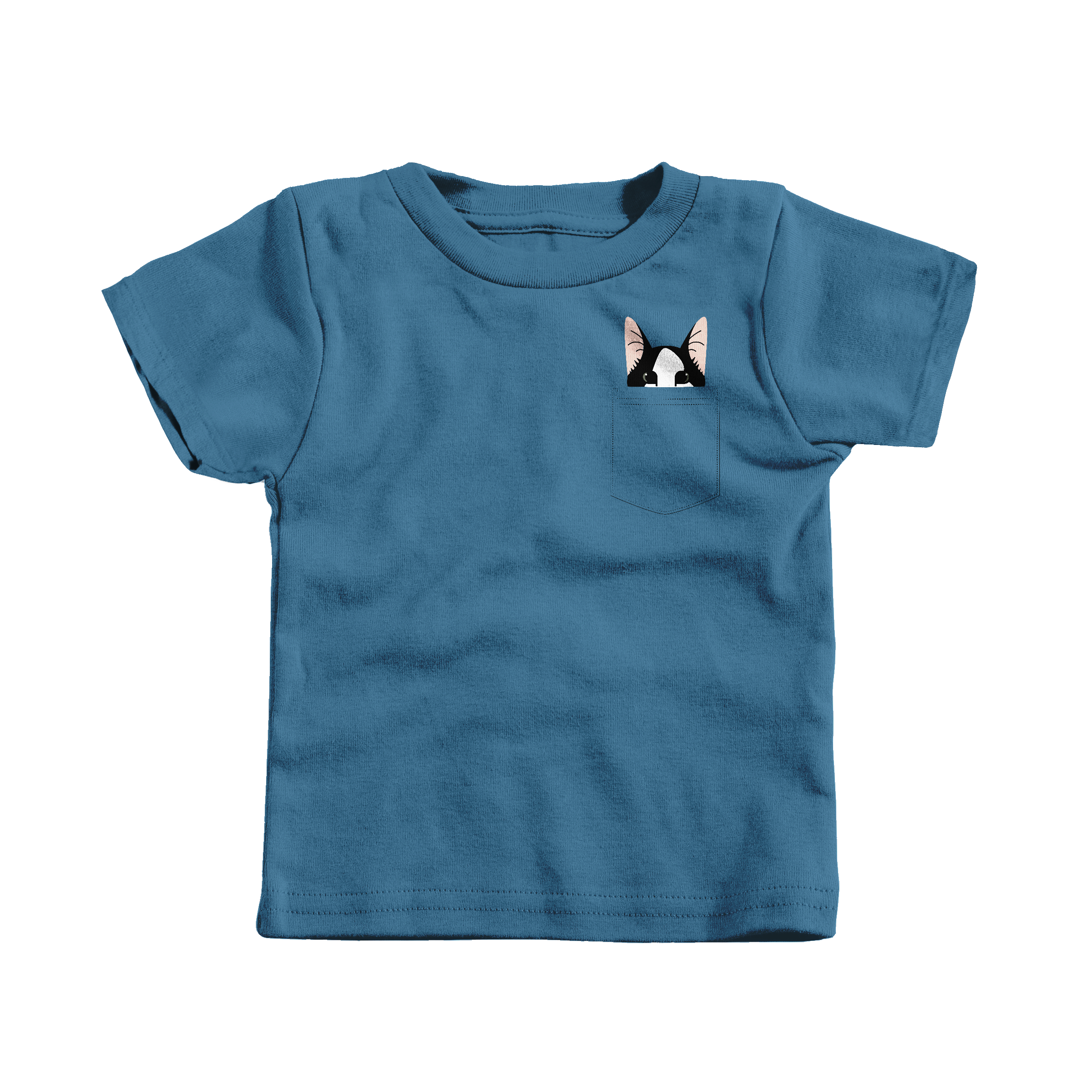 Pocket Cat Indigo (T-Shirt)