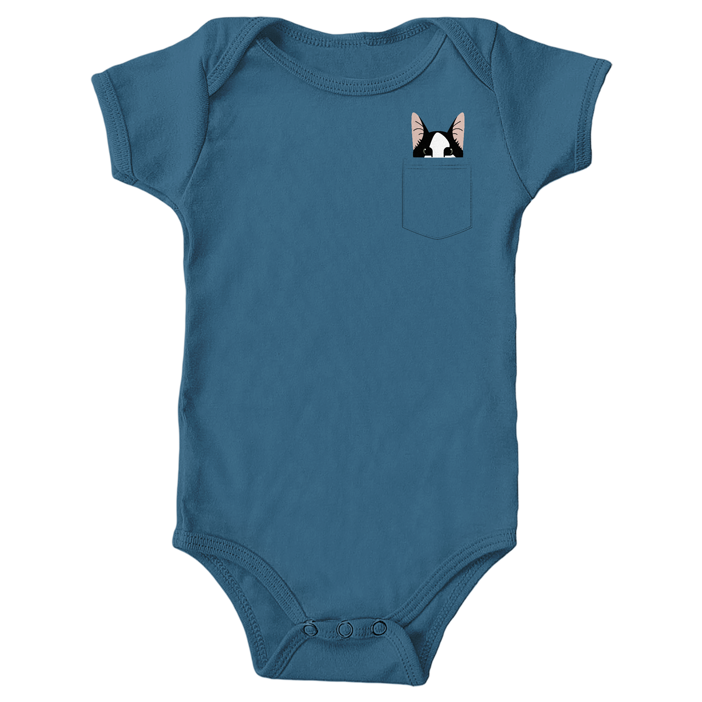 Pocket Cat Indigo (Onesie)