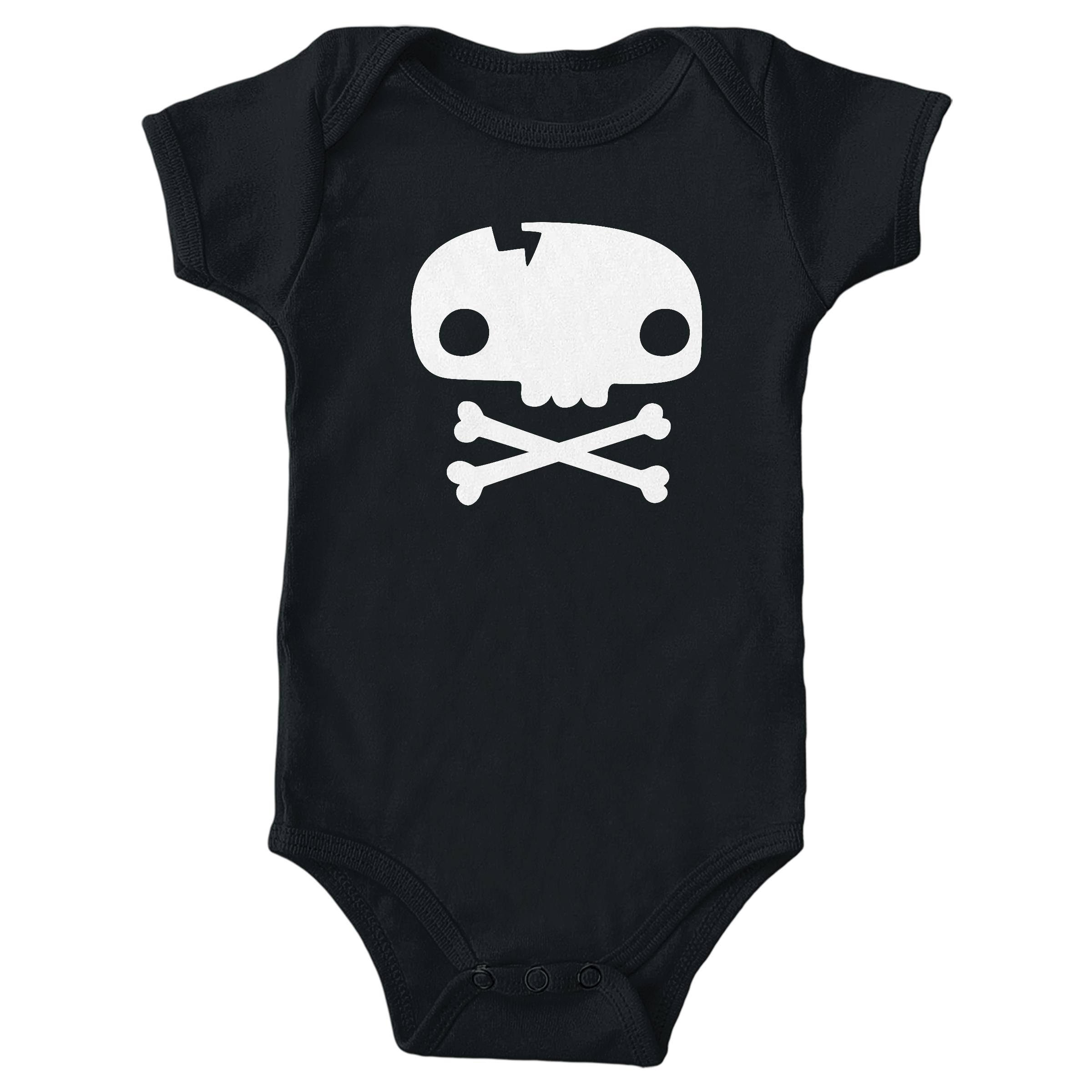 Skull Tee Black (Onesie)