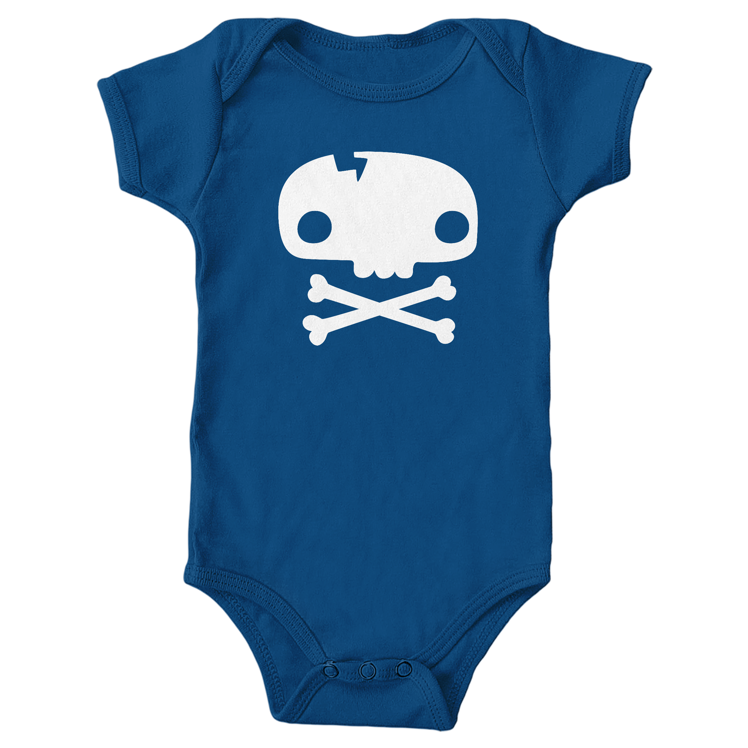 Skull Tee Royal (Onesie)