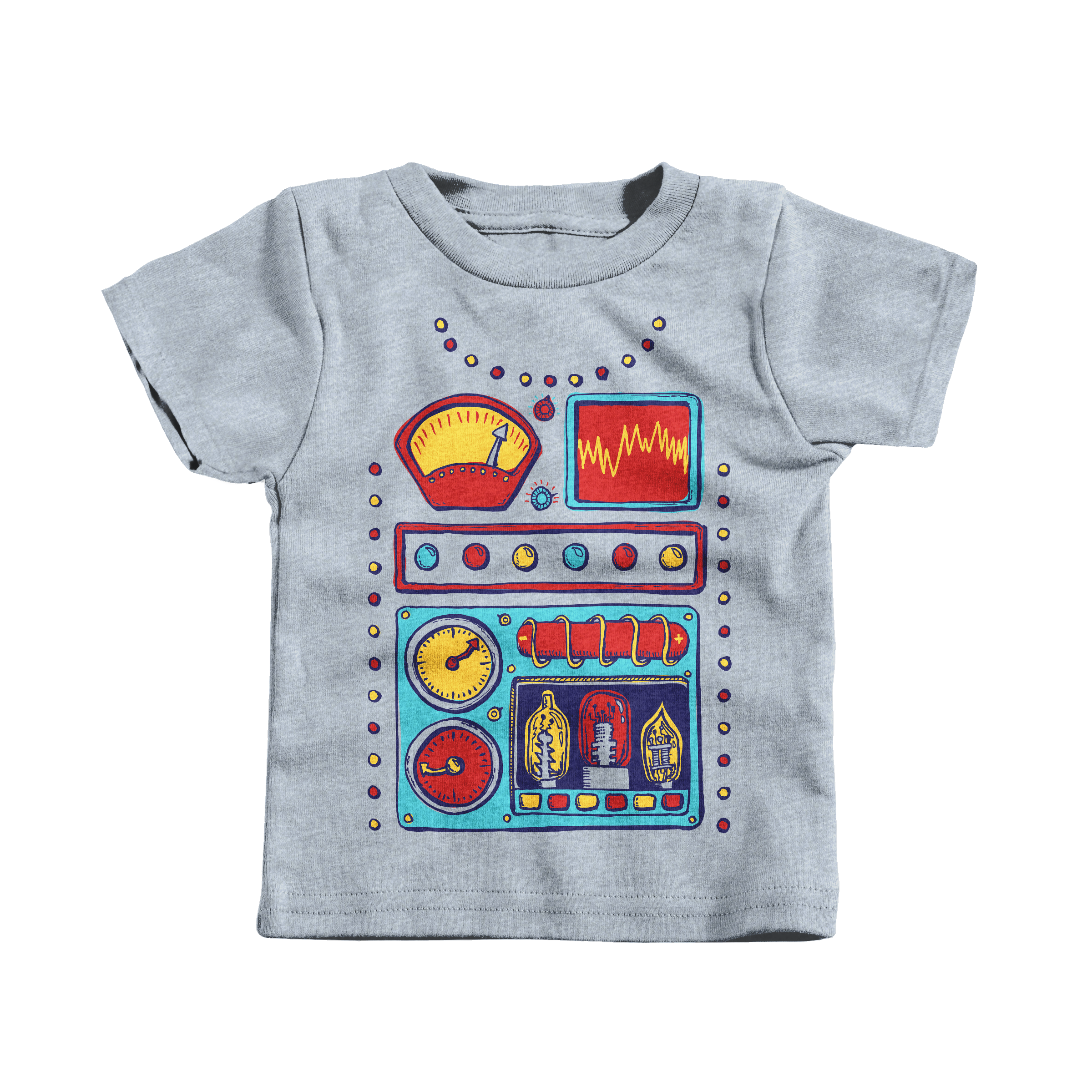 Retrobot 2000 Heather Grey (T-Shirt)