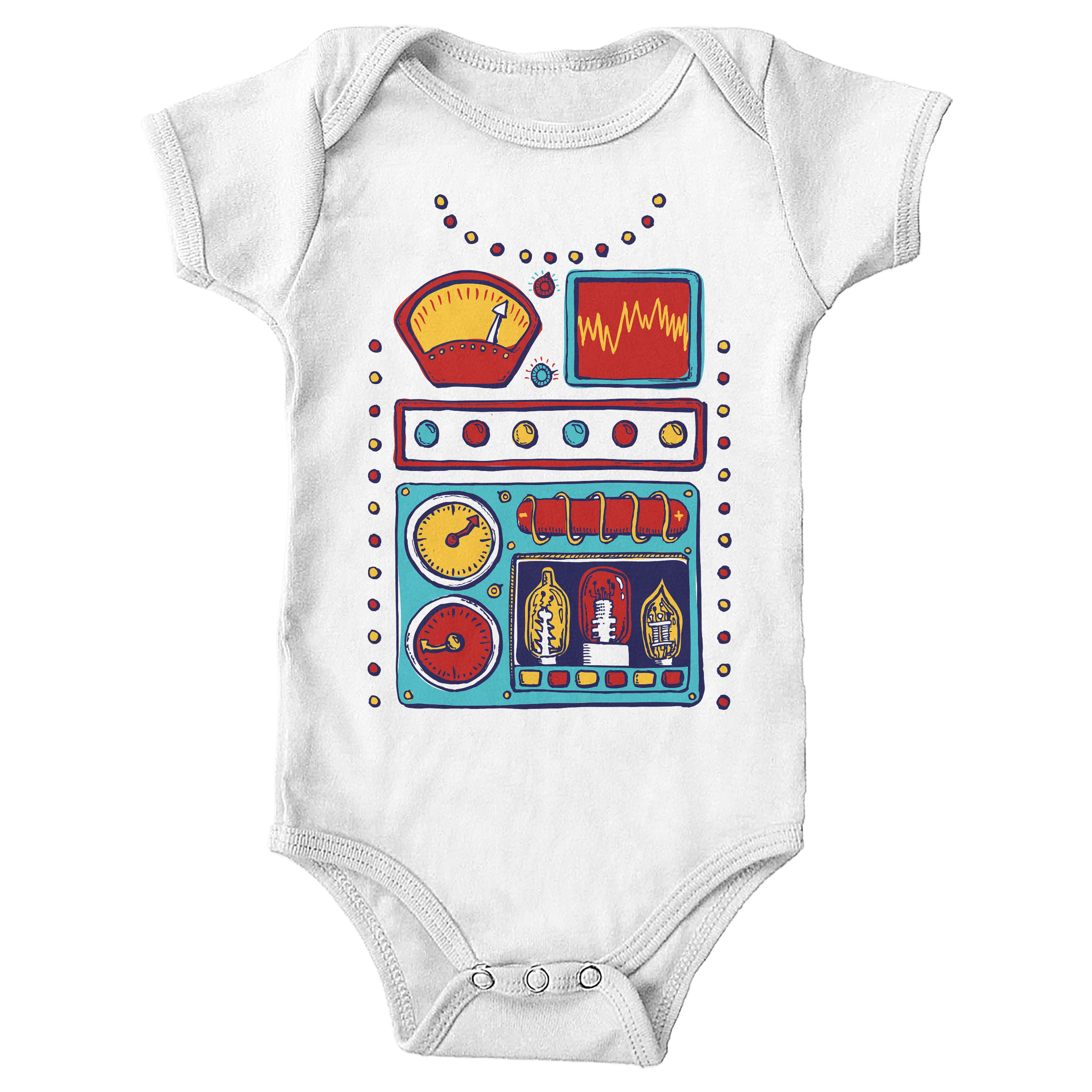 Retrobot 2000 White (Onesie)