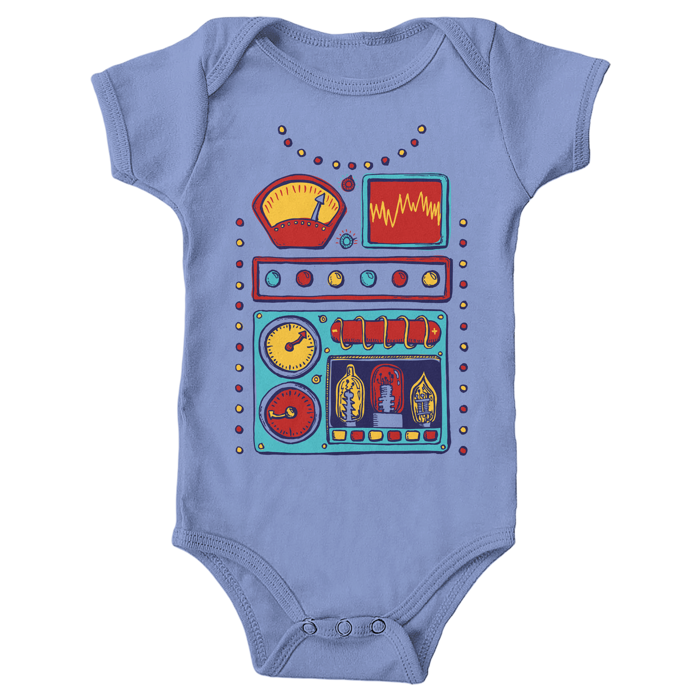 Retrobot 2000 Carolina Blue (Onesie)