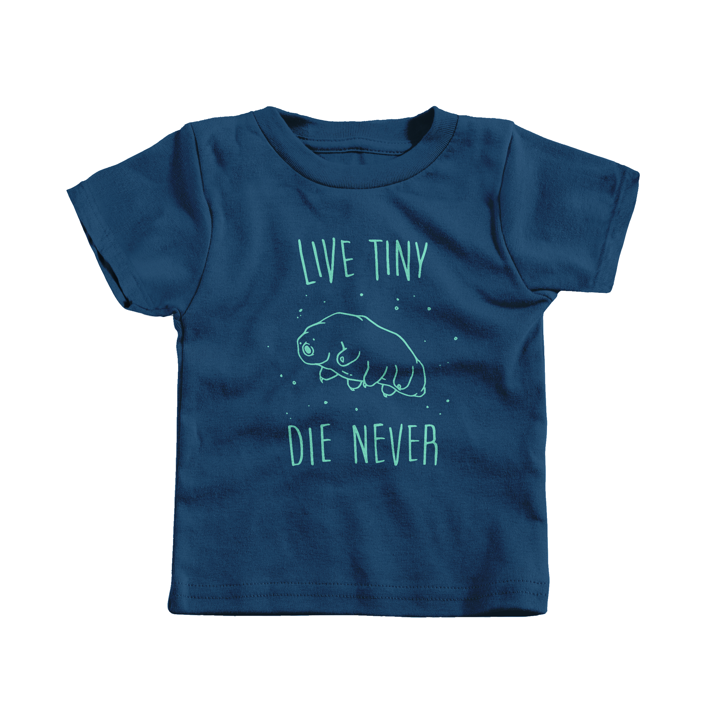 Live Tiny Tardigrade Navy (T-Shirt)