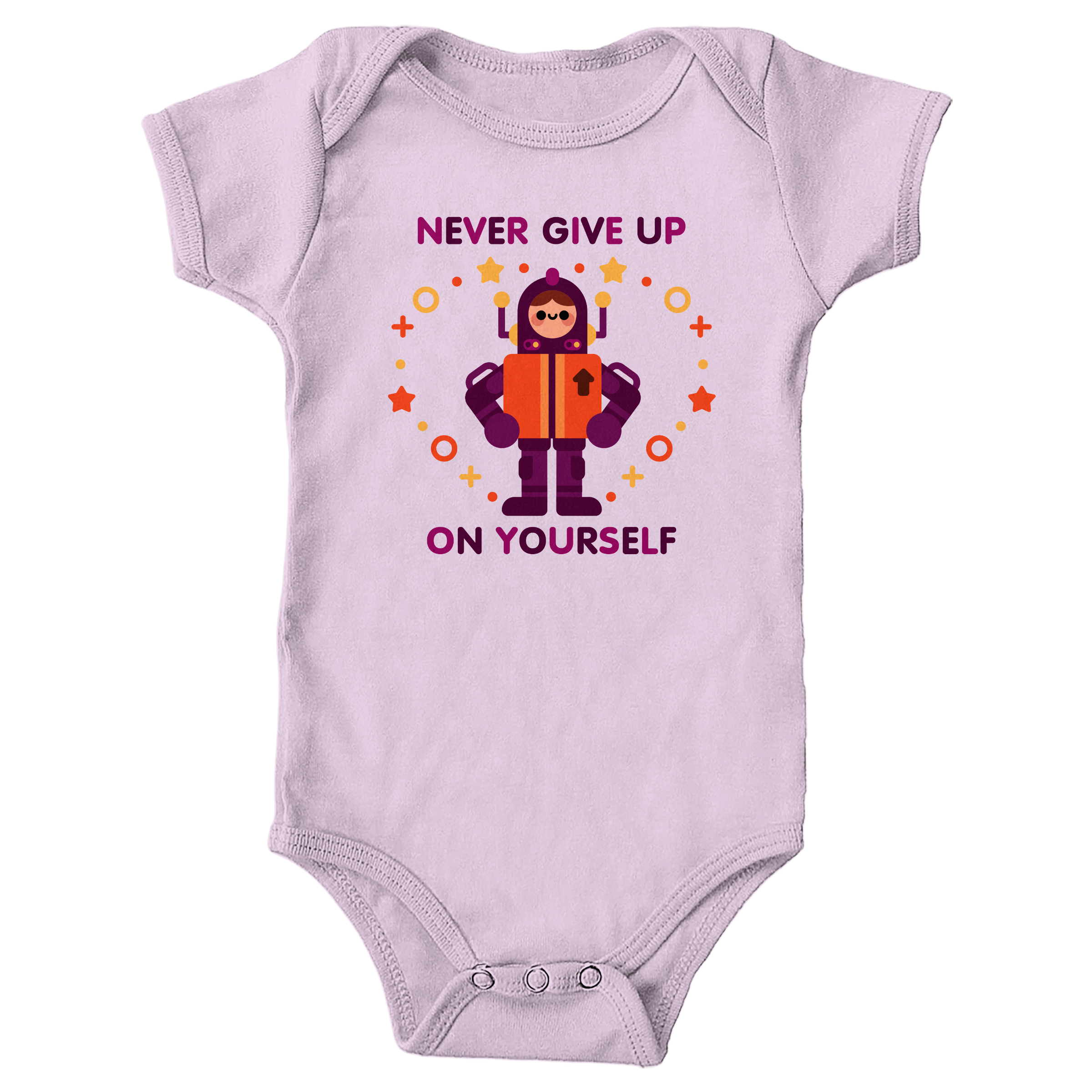 Never Give Up Pink (Onesie)