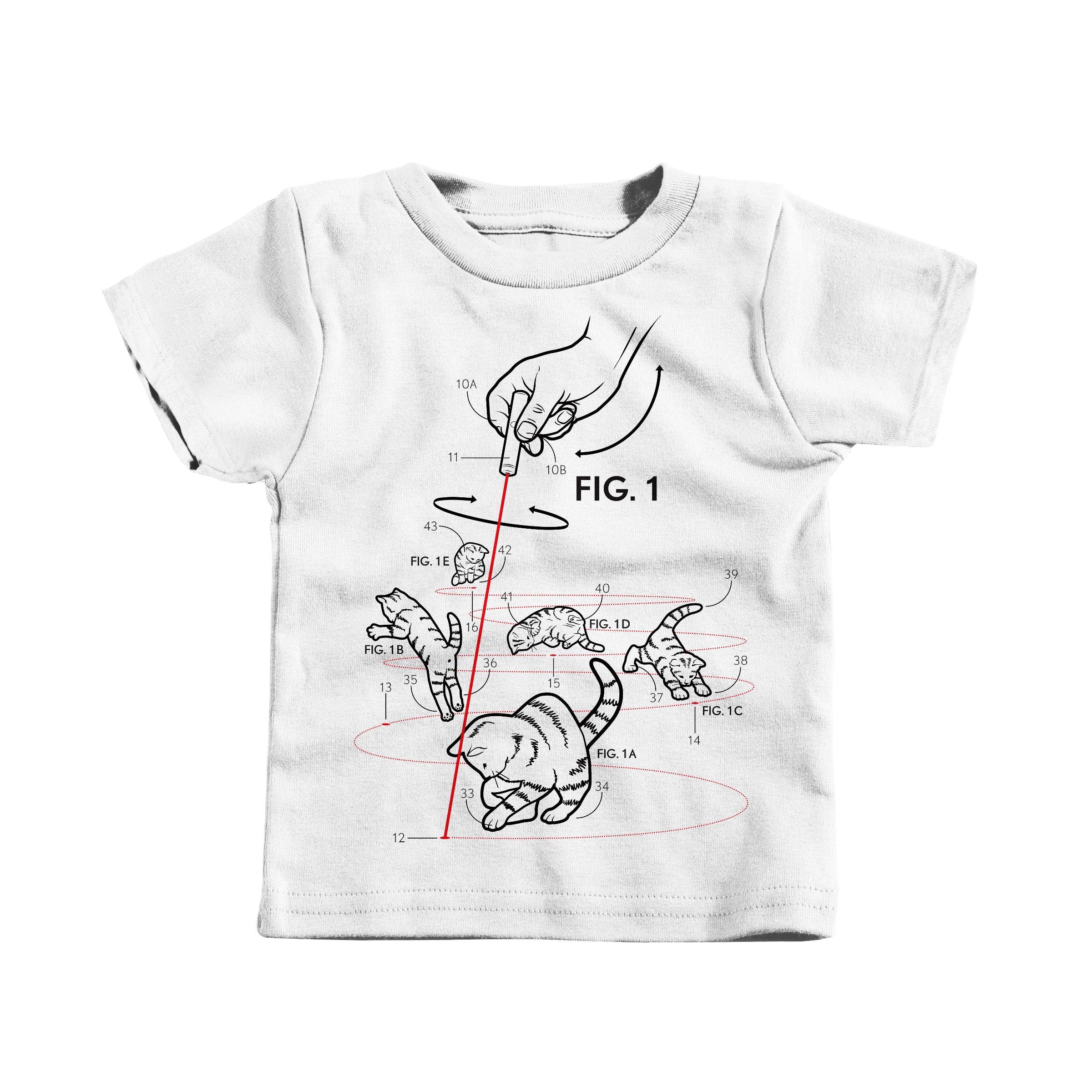 LazerCats! White (T-Shirt)