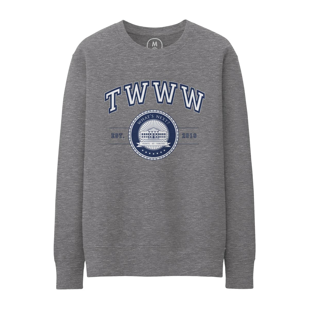 TWWW University Gunmetal Heather Pullover Crewneck