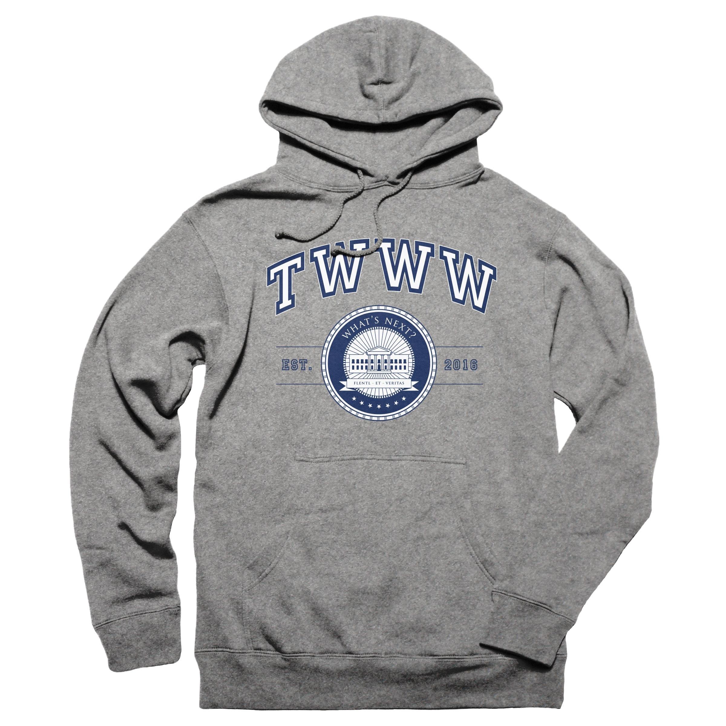 TWWW University Gunmetal Heather Pullover Hoodie